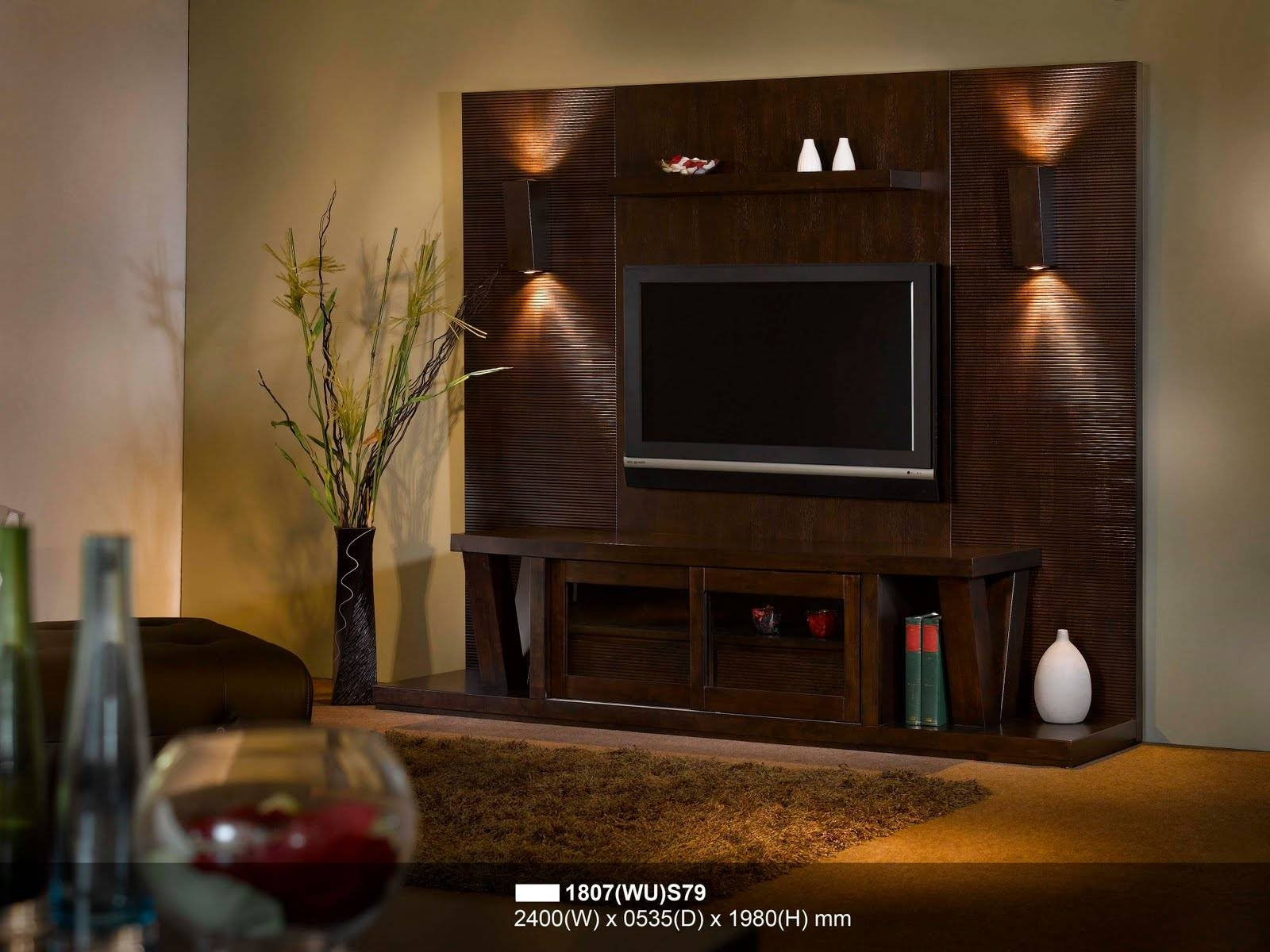 Bedroom : Led Tv Stand Tv Stand Design Tv Unit Online Modern Tv within On the Wall Tv Units (Image 2 of 15)
