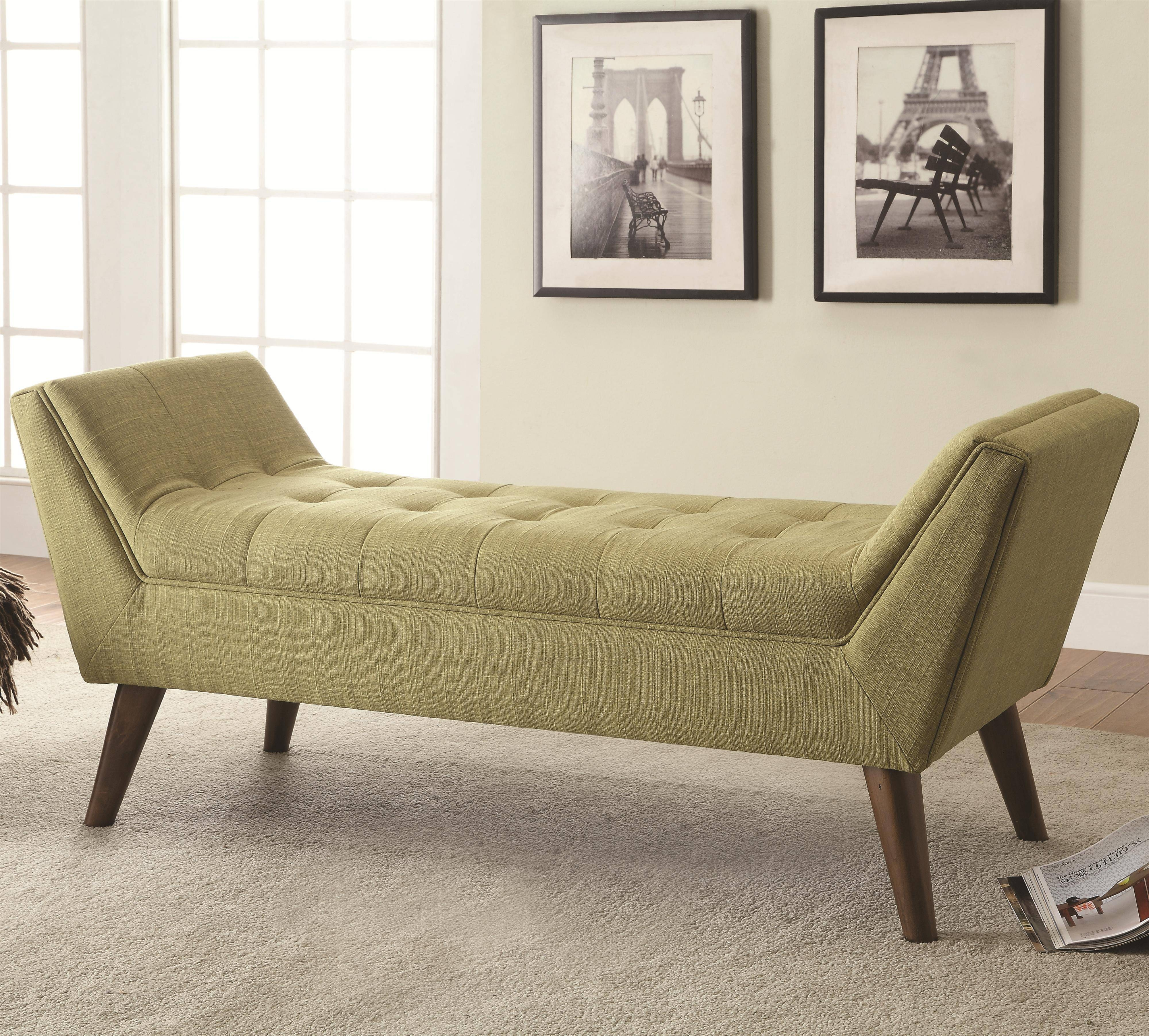 Bedroom : Tufted Bedroom Bench Dining Bench With Storage Fabric intended for Bedroom Bench Sofas (Image 6 of 15)