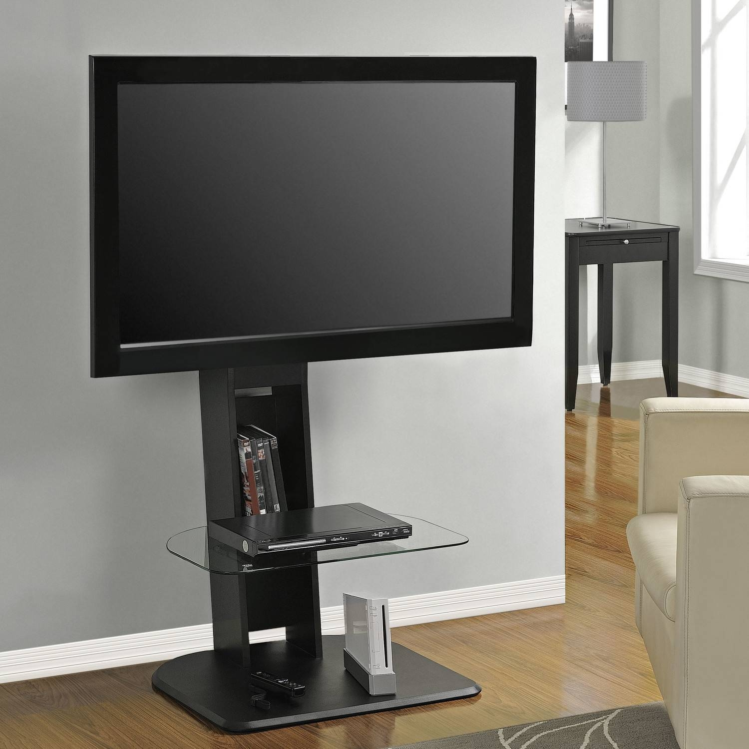 Bedroom : Tv Media Stand White Tv Stand Cheap Tv Cabinets Black inside Tall Black Tv Cabinets (Image 4 of 15)
