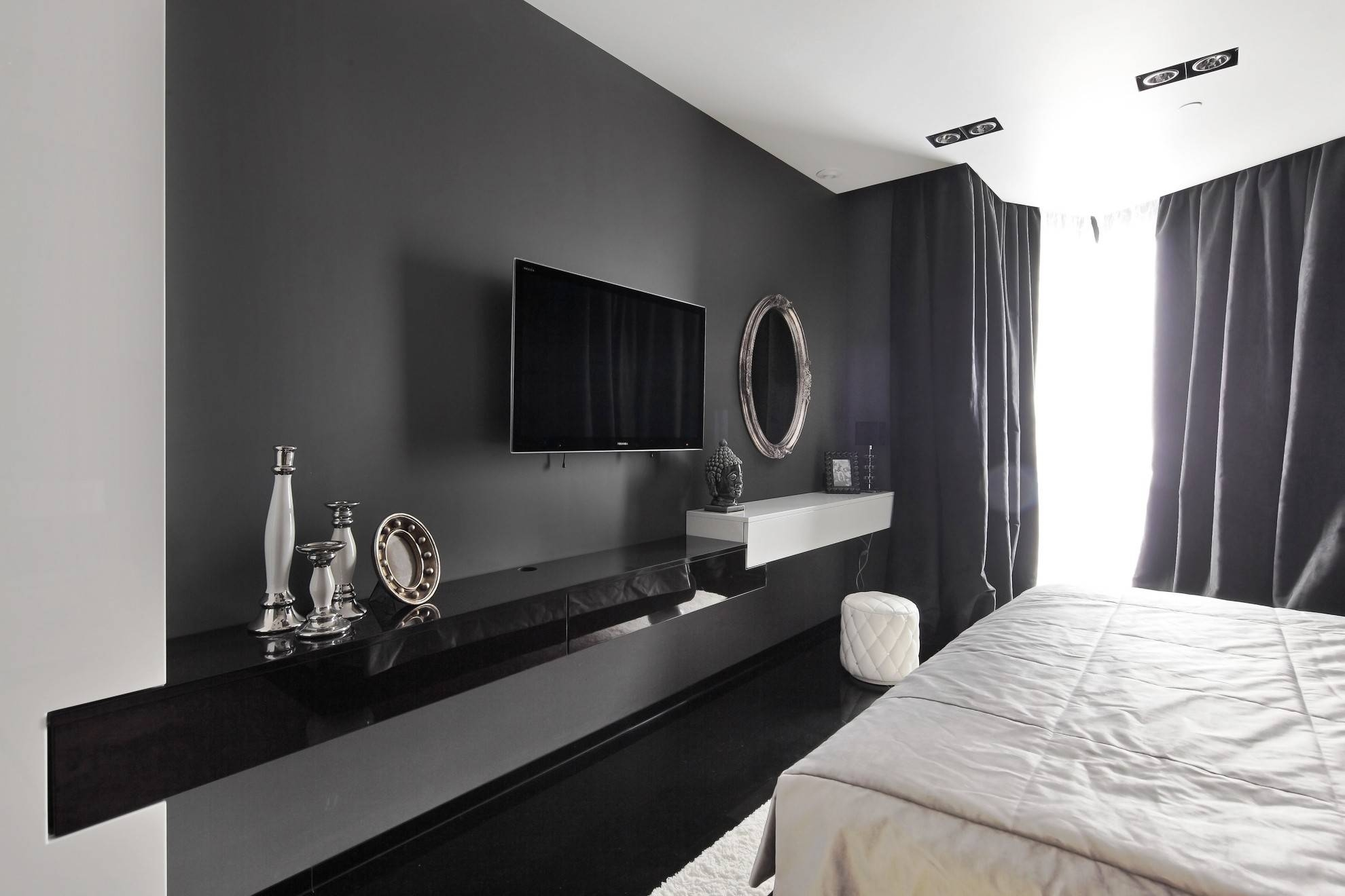 Bedroom: Tv Unit Ideas Wall Mounted Tv Unit Designs Tv Unit Design throughout Bedroom Tv Shelves (Image 8 of 15)