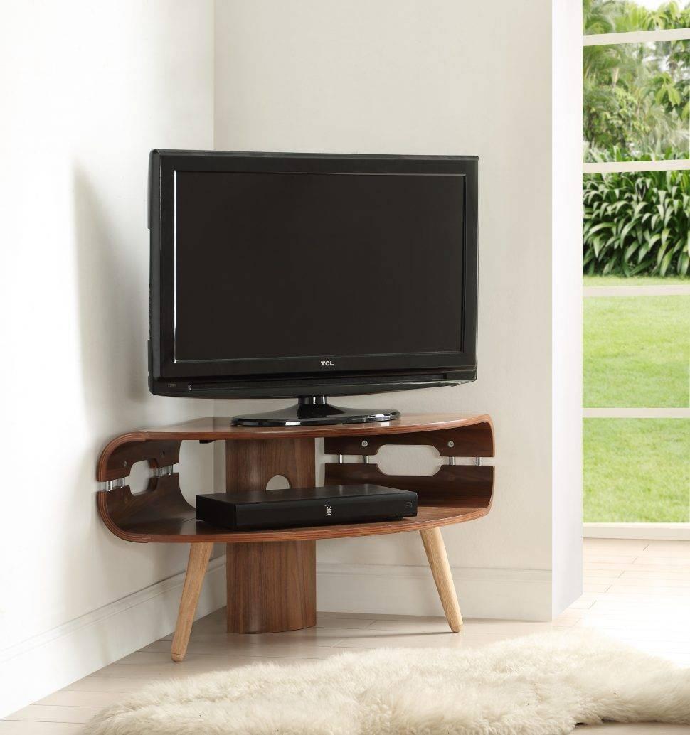 Bedrooms : Corner Tv Unit Led Tv Stand Corner Tv Table Dark Wood for Tv Stands Corner Units (Image 1 of 15)