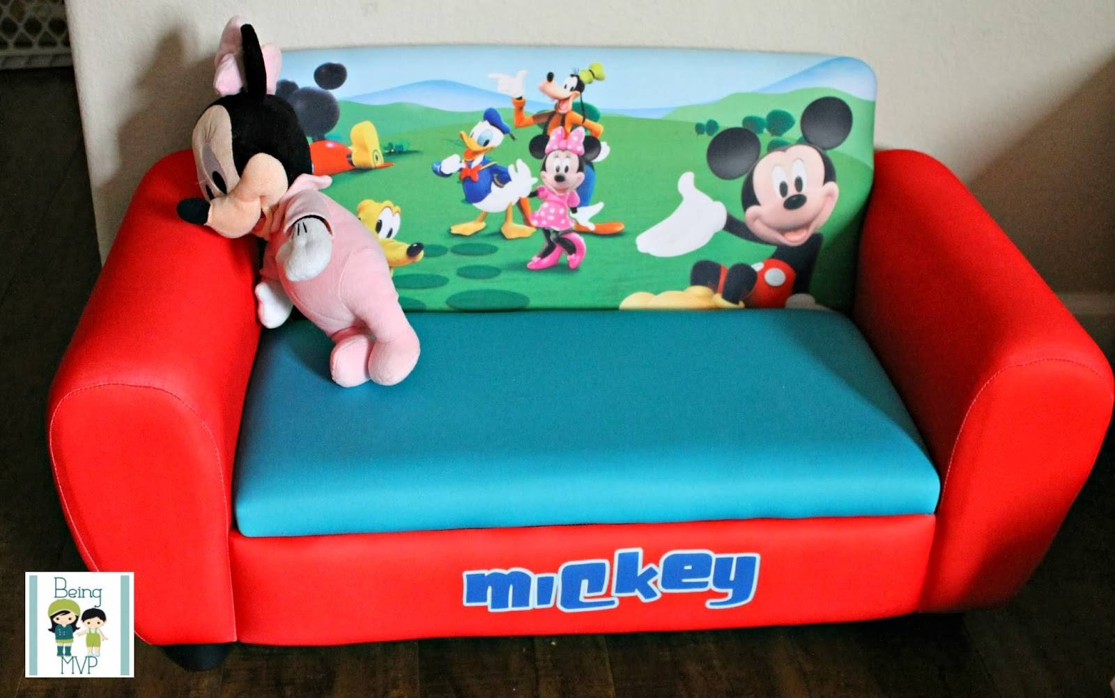 Being Mvp: Mickey Mouse Upholstered Sofa For Tiny Tots To Chill On regarding Mickey Fold Out Couches (Image 5 of 15)