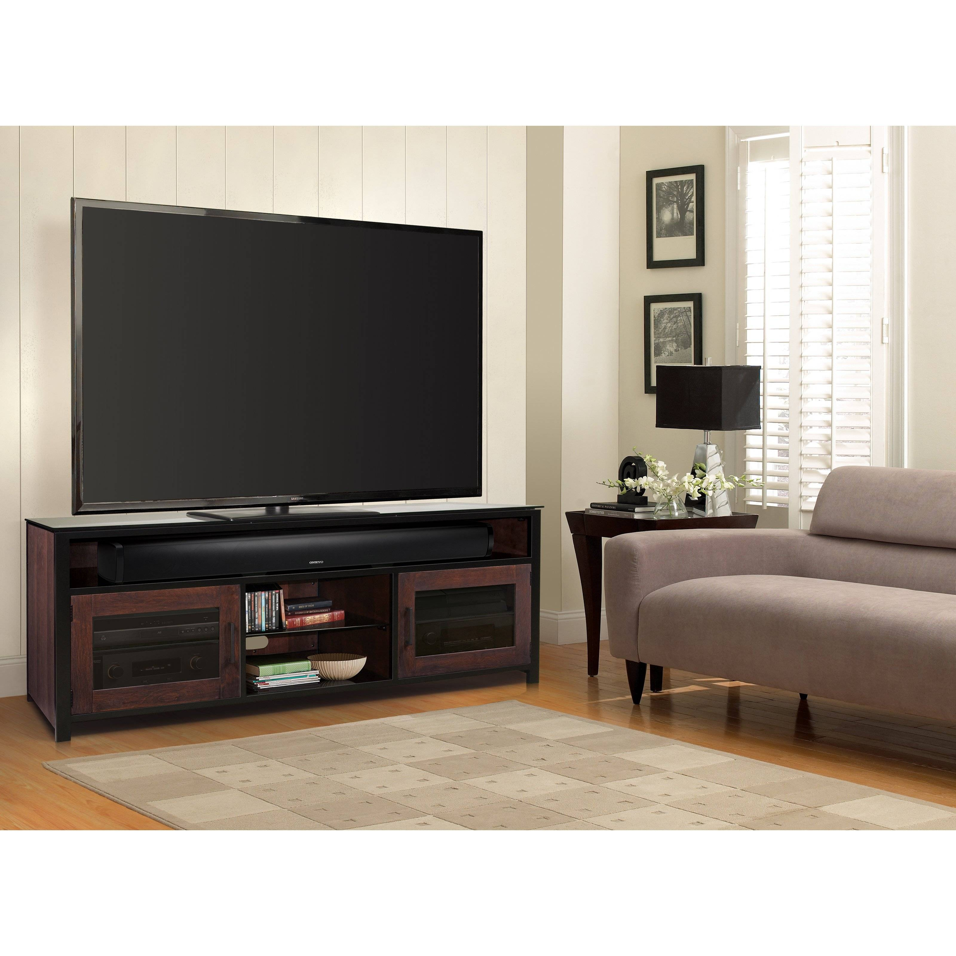 Bell'o Bedford Audio / Video Cabinet - Cocoa - Walmart with regard to Bedford Tv Stands (Image 2 of 15)