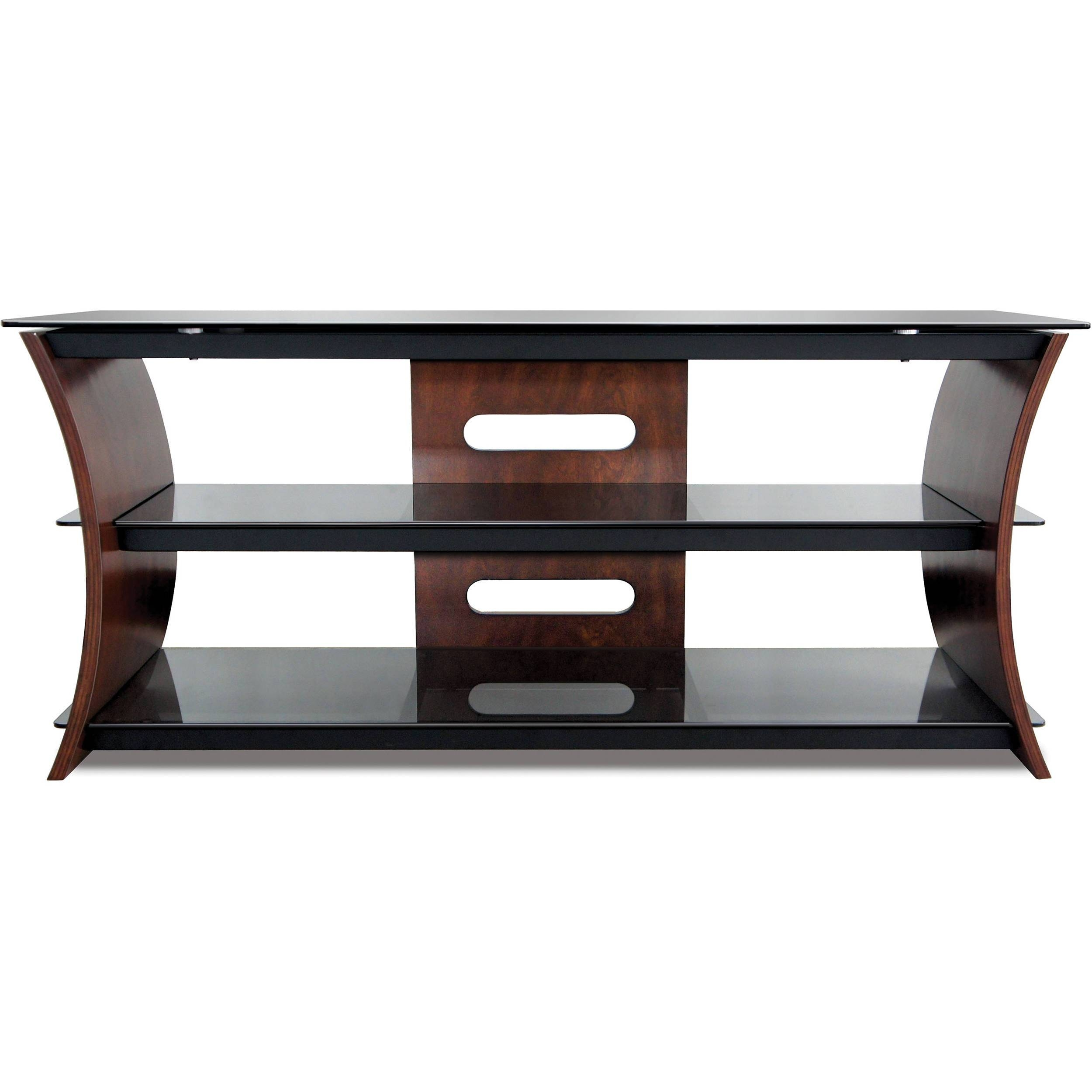 Bell'o Cw356 Curved Wood Tv Stand Cw356 B&h Photo Video within Curve Tv Stands (Image 3 of 15)