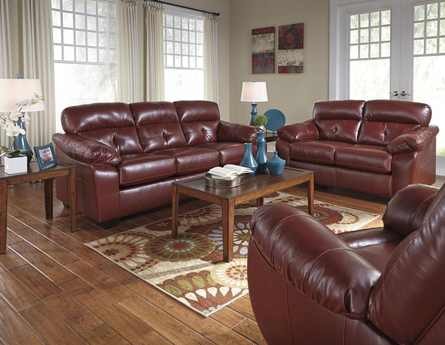 Bench Craft Leather Sofas | Centerfieldbar for Benchcraft Leather Sofas (Image 3 of 15)