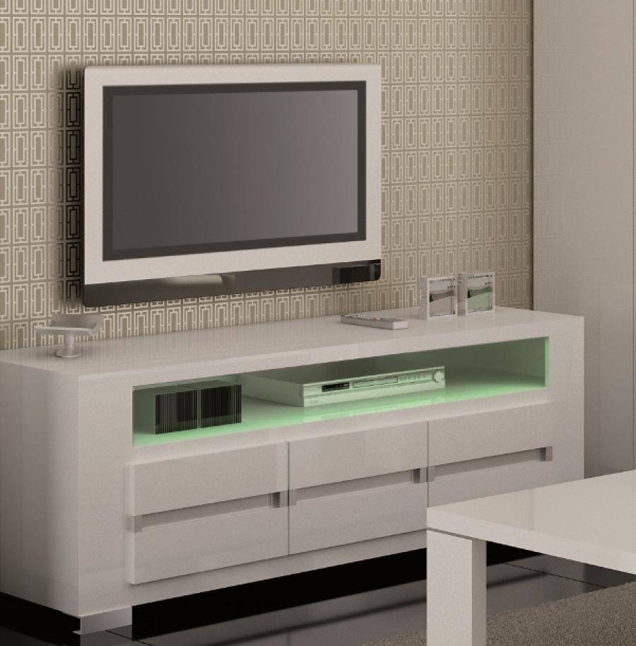 Bench. High Gloss Tv Bench: Modern Tv Stand Cm High Gloss Cabinet intended for Long White Tv Cabinets (Image 4 of 15)