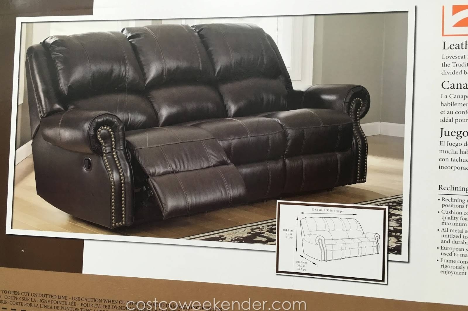 Berkline Leather Reclining Sofa | Costco Weekender in Berkline Leather Sofas (Image 5 of 15)