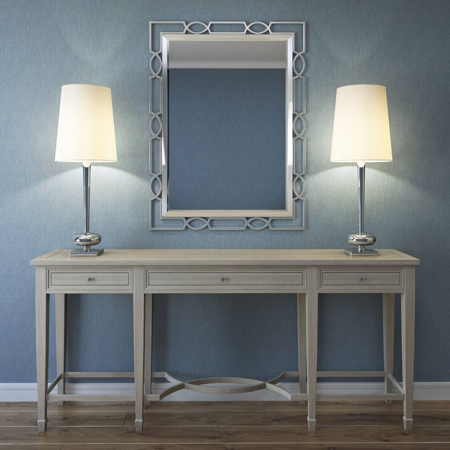 Bernhardt Criteria Console Table With The Mirror 3D Model Max Fbx regarding Bernhardt Console Tables (Image 1 of 15)