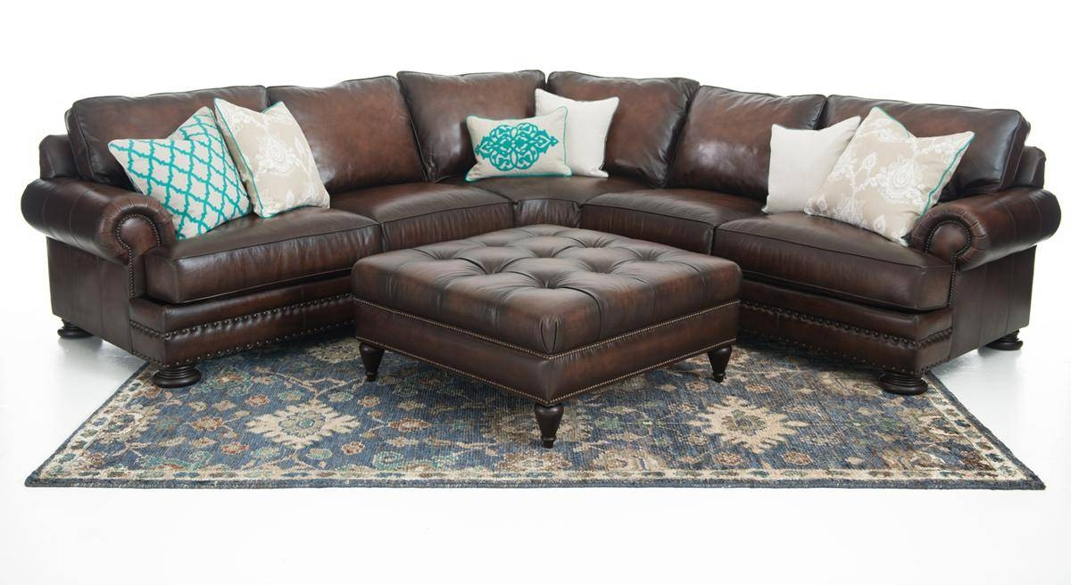 Bernhardt Foster 2-Piece Leather Sectional | Weir's Furniture with Foster Leather Sofas (Image 7 of 15)