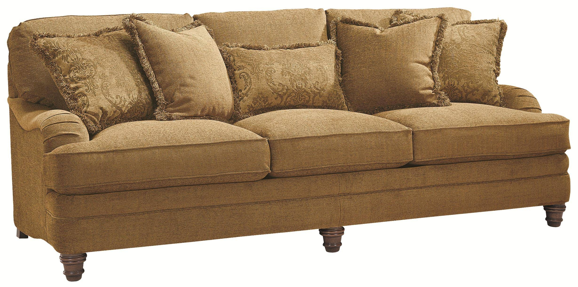 Bernhardt Tarleton Traditional Styled Stationary Sofa In Slightly for Bernhardt Tarleton Sofas (Image 4 of 15)