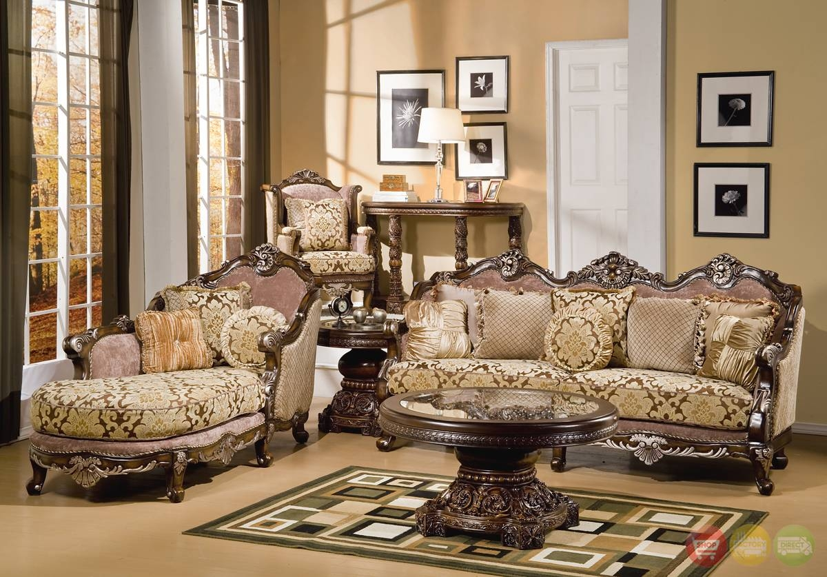 Best 11 Traditional Style Living Room Furniture On Pictures Of within Sofas and Chaises Lounge Sets (Image 2 of 15)
