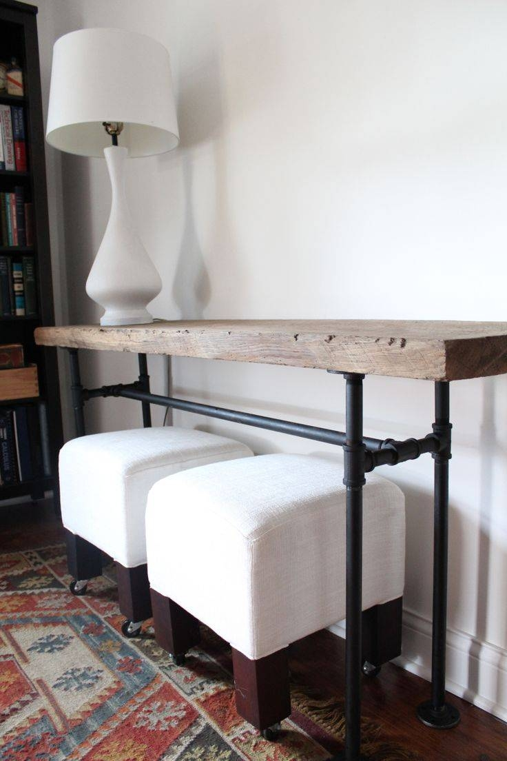 Best 25+ Bar Behind Couch Ideas On Pinterest | Table Behind Couch with Counter Height Sofa Tables (Image 3 of 15)