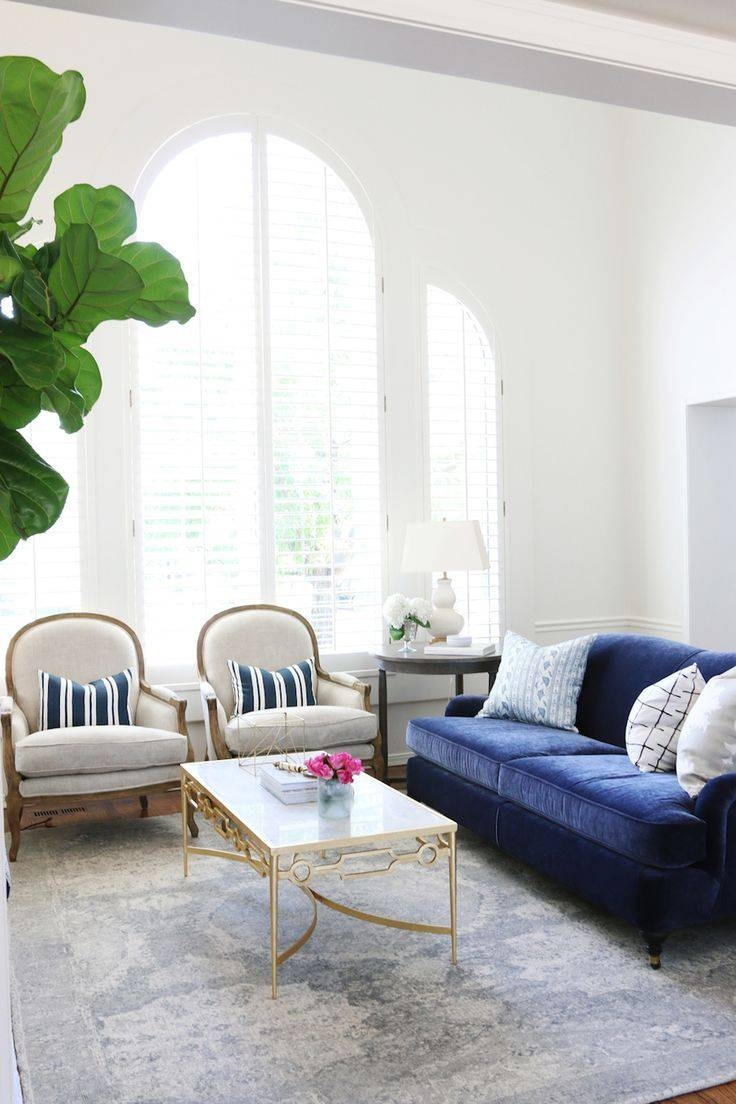 Best 25+ Blue Sofas Ideas On Pinterest | Sofa, Navy Blue Couches intended for Blue and White Sofas (Image 1 of 15)