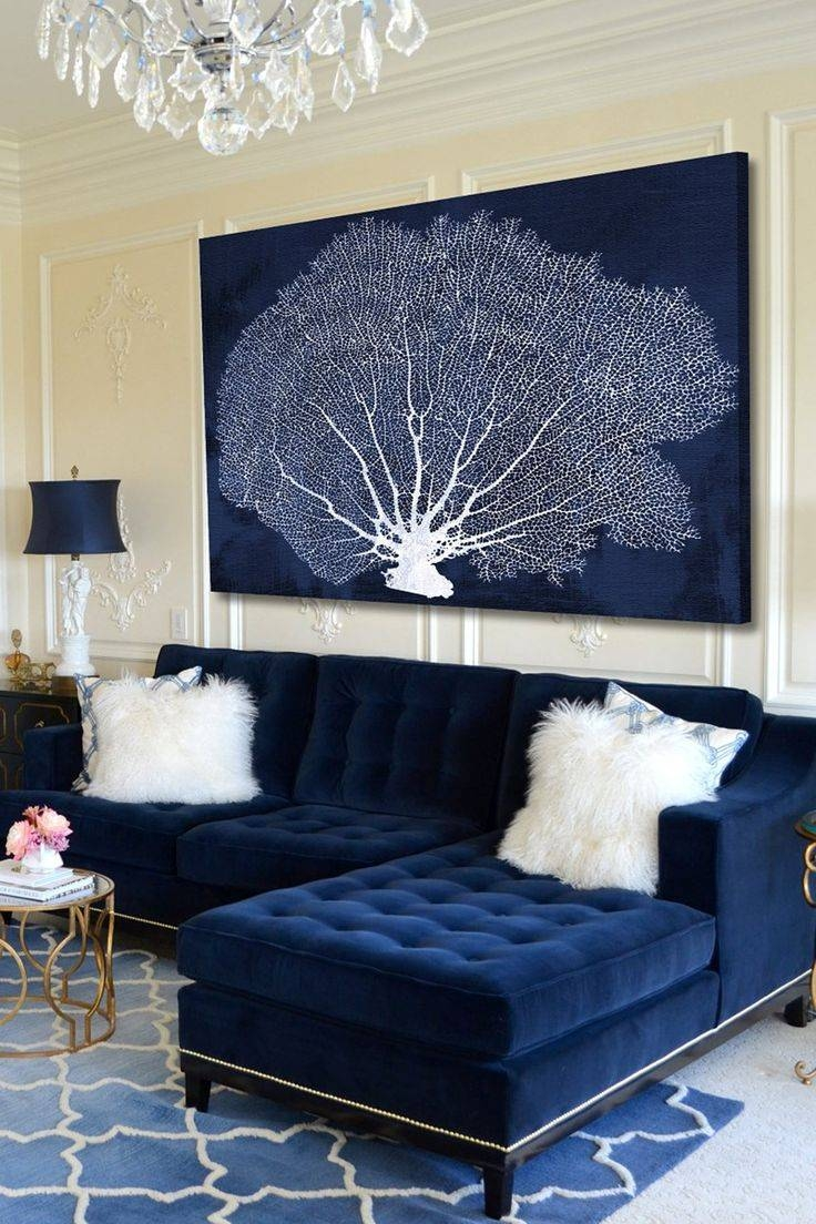 Best 25+ Navy Blue Sofa Ideas On Pinterest | Navy Blue Couches regarding Blue And White Sofas (Image 2 of 15)