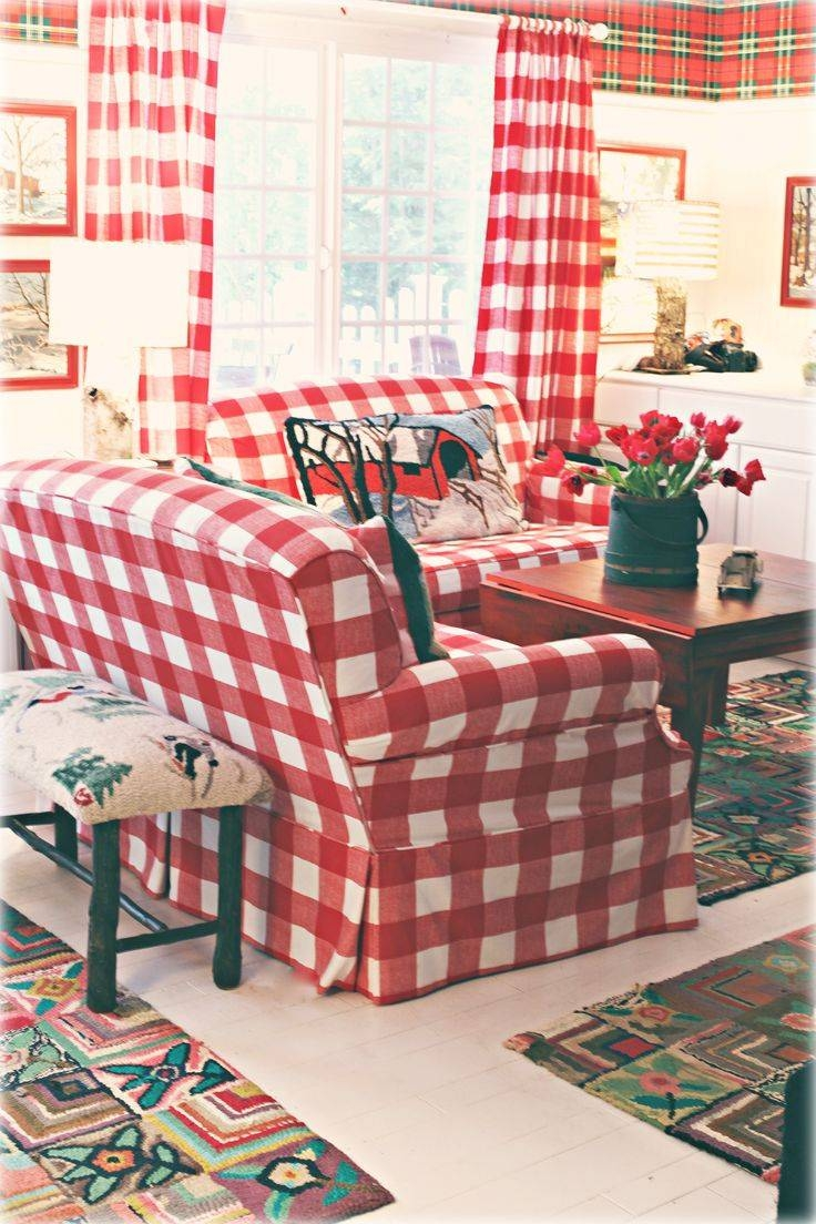 Best 25+ Plaid Couch Ideas On Pinterest | Painting Fabric within Gingham Sofas (Image 2 of 15)