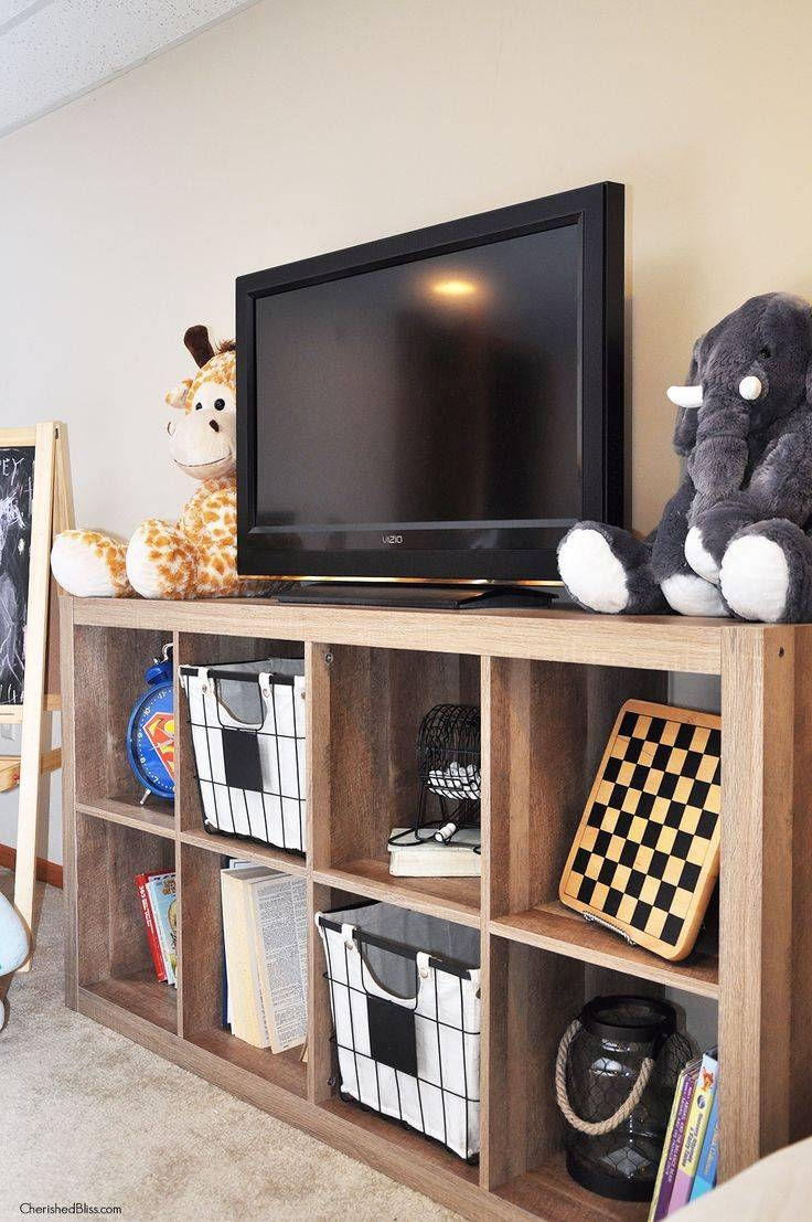 Best 25+ Rustic Media Storage Ideas On Pinterest | Floating Media Pertaining To Tv Stands With Storage Baskets (View 3 of 15)