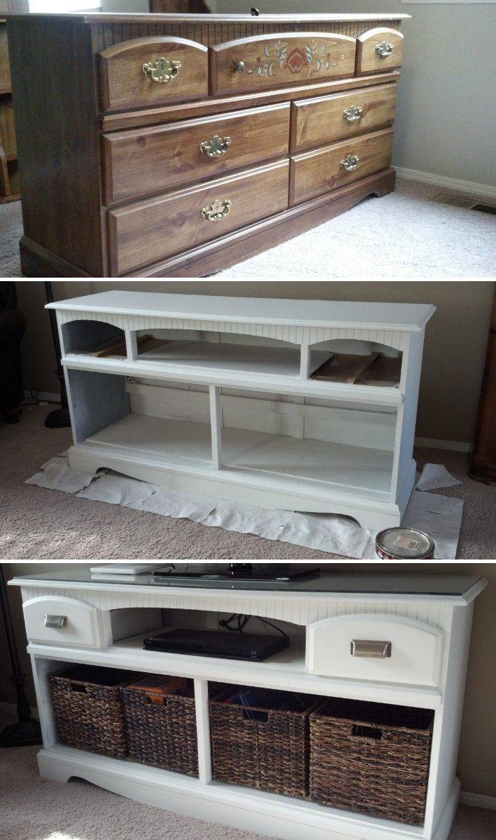 Best 25+ Tv Stand Makeover Ideas On Pinterest | Refurbished pertaining to White Painted Tv Cabinets (Image 3 of 15)