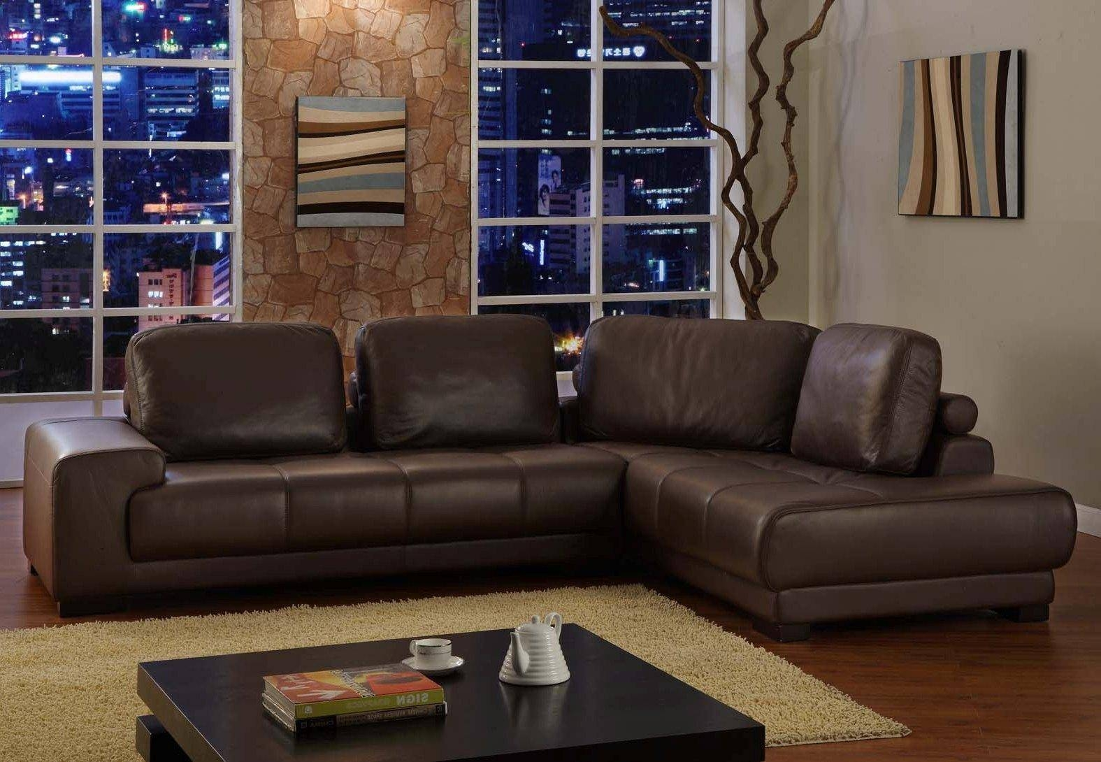 Best Leather Contemporary Sofa | All Contemporary Design In Contemporary Brown Leather Sofas (View 5 of 15)