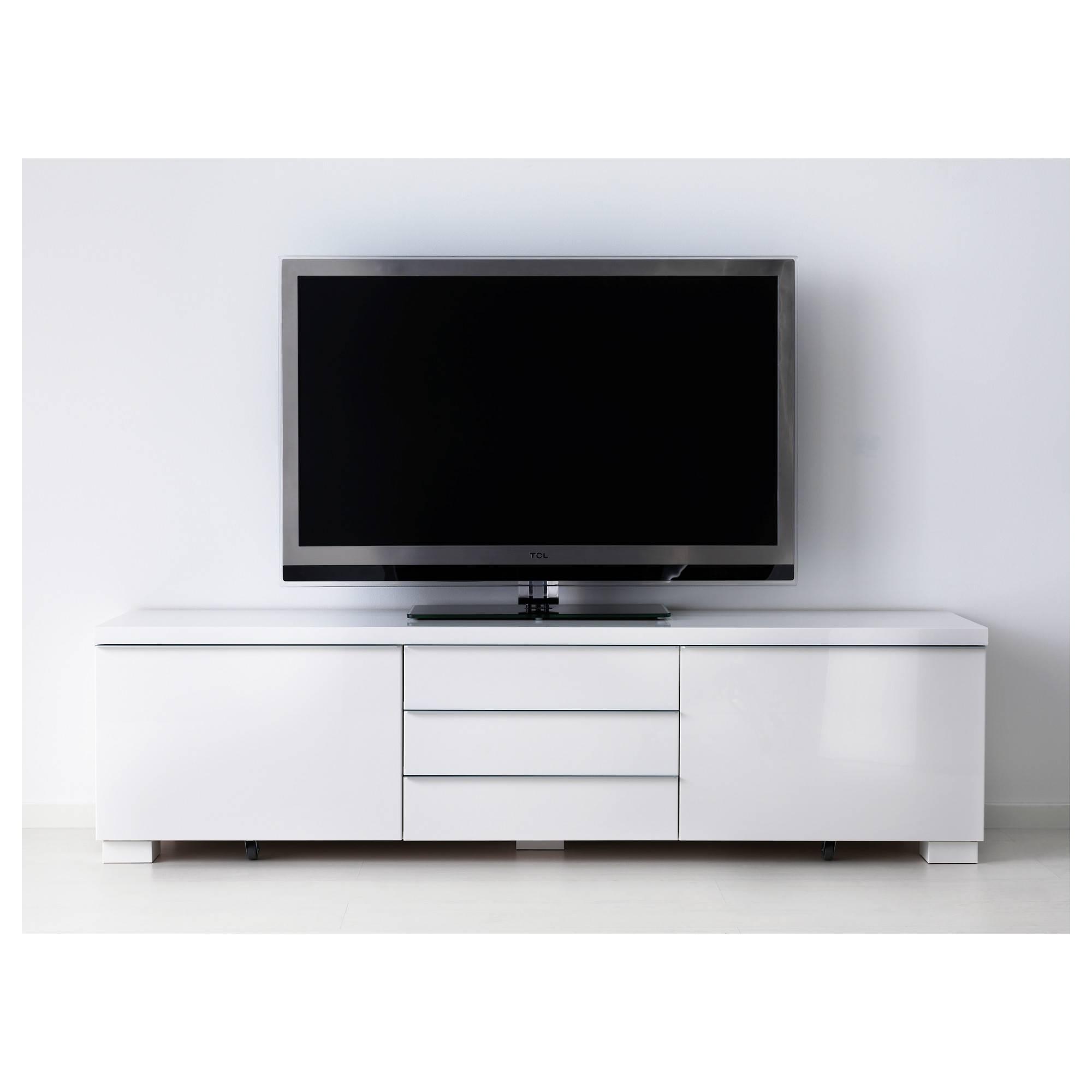 Bestå Burs Tv Unit – Ikea Regarding Shiny Black Tv Stands (View 3 of 15)