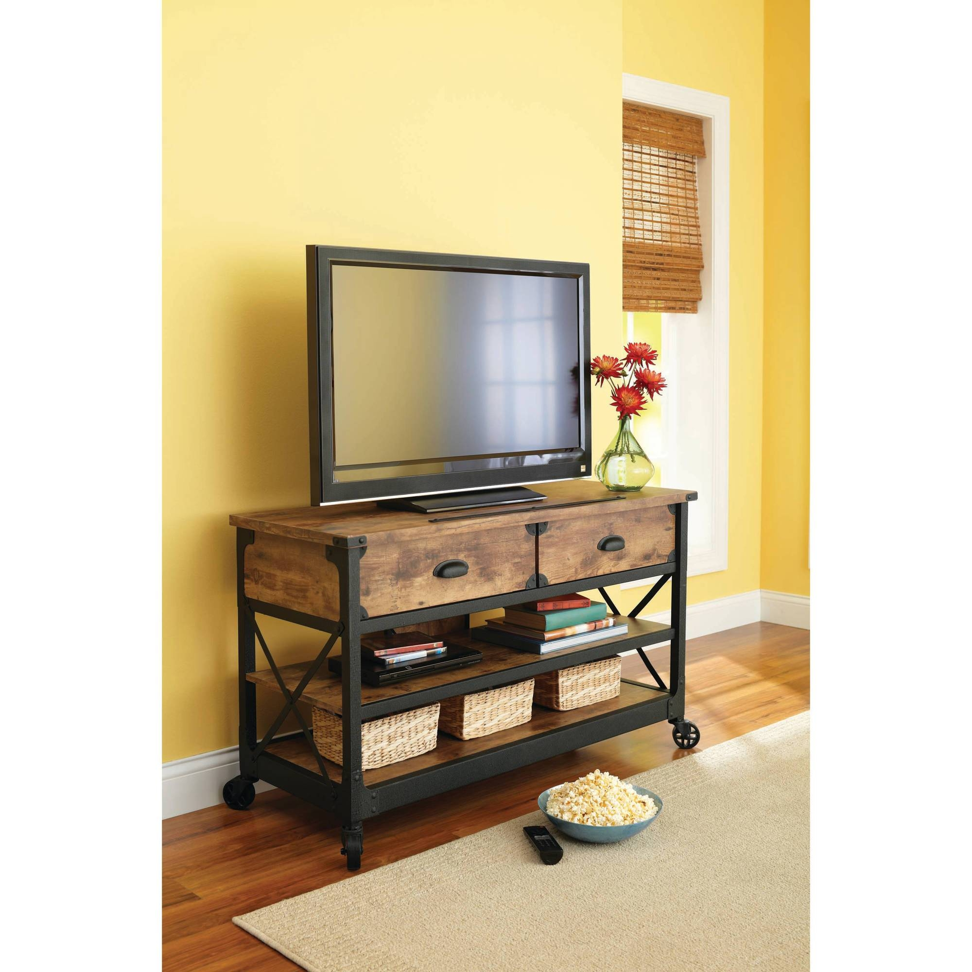 Better Homes And Gardens Rustic Country Living Room Set – Walmart Pertaining To Cheap Rustic Tv Stands (View 15 of 15)