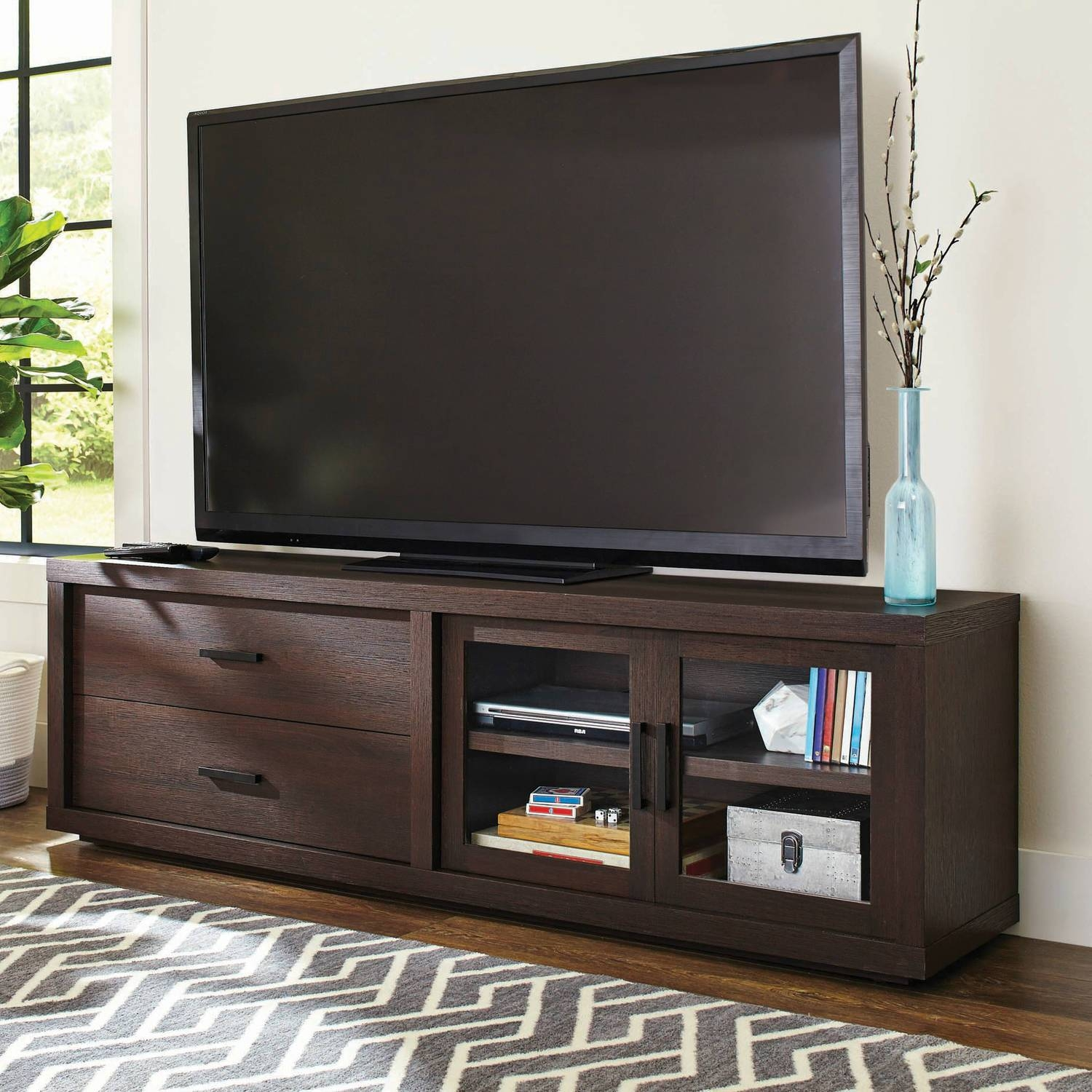 Better Homes And Gardens Steele Tv Stand For Tv's Up To 80 with Expresso Tv Stands (Image 6 of 15)