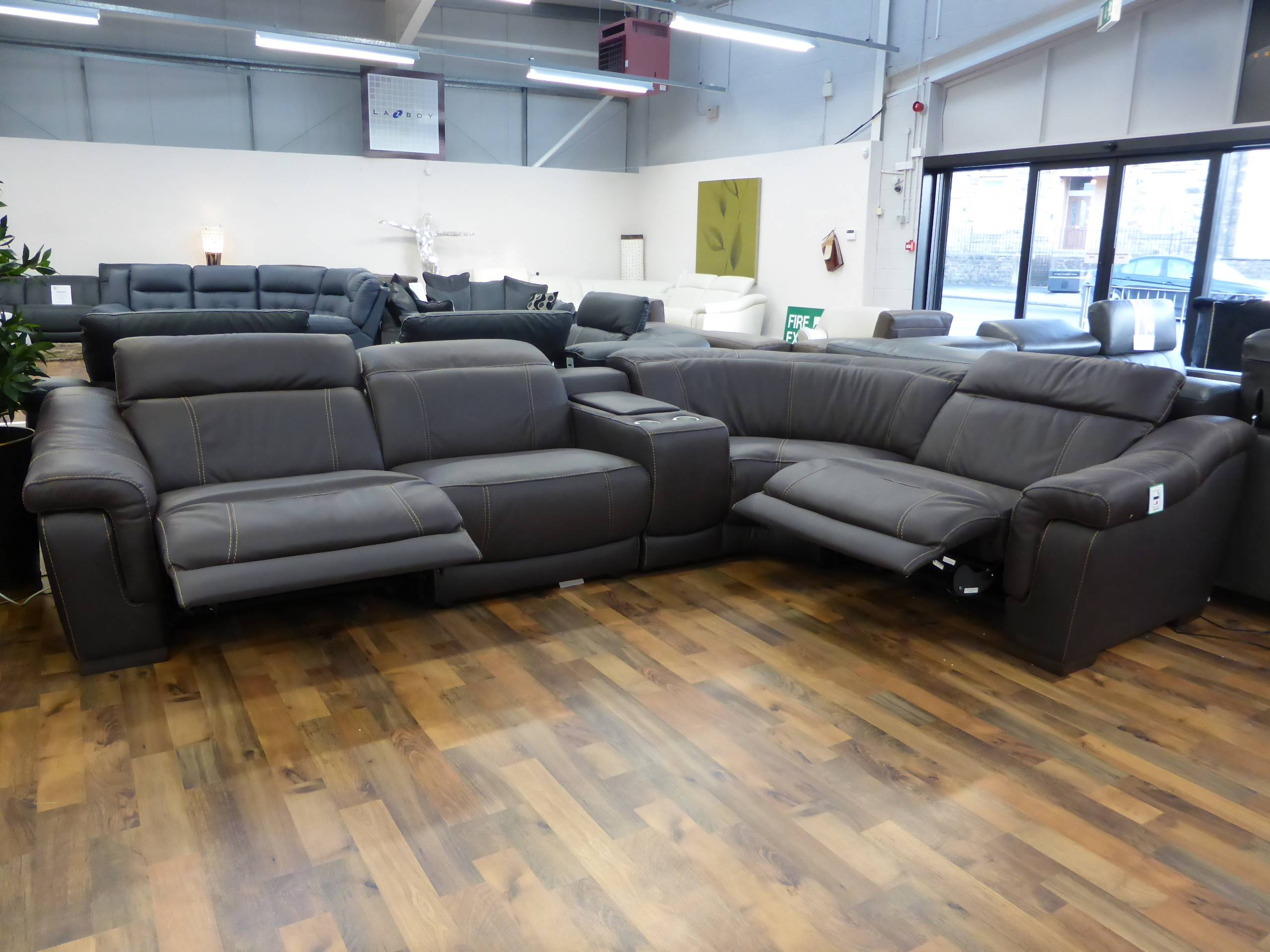 Italian Leather Electric Reclining Sofa