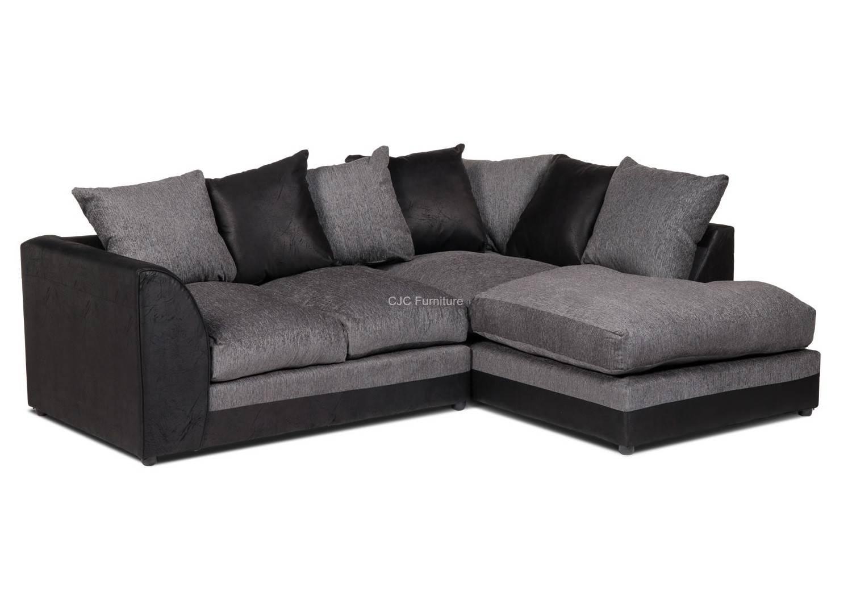 Birmingham Furniture - Cjcfurniture.co.uk Corner Sofas throughout Black Corner Sofas (Image 3 of 15)