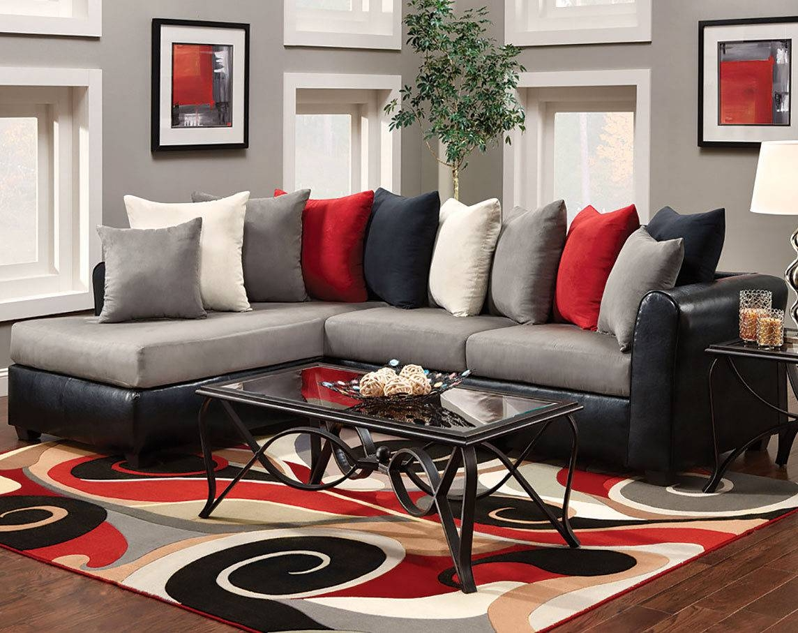 Black And Red Living Room Rugs Shaker Decoration Sectional Dark Within Shaker Sofas (View 10 of 15)