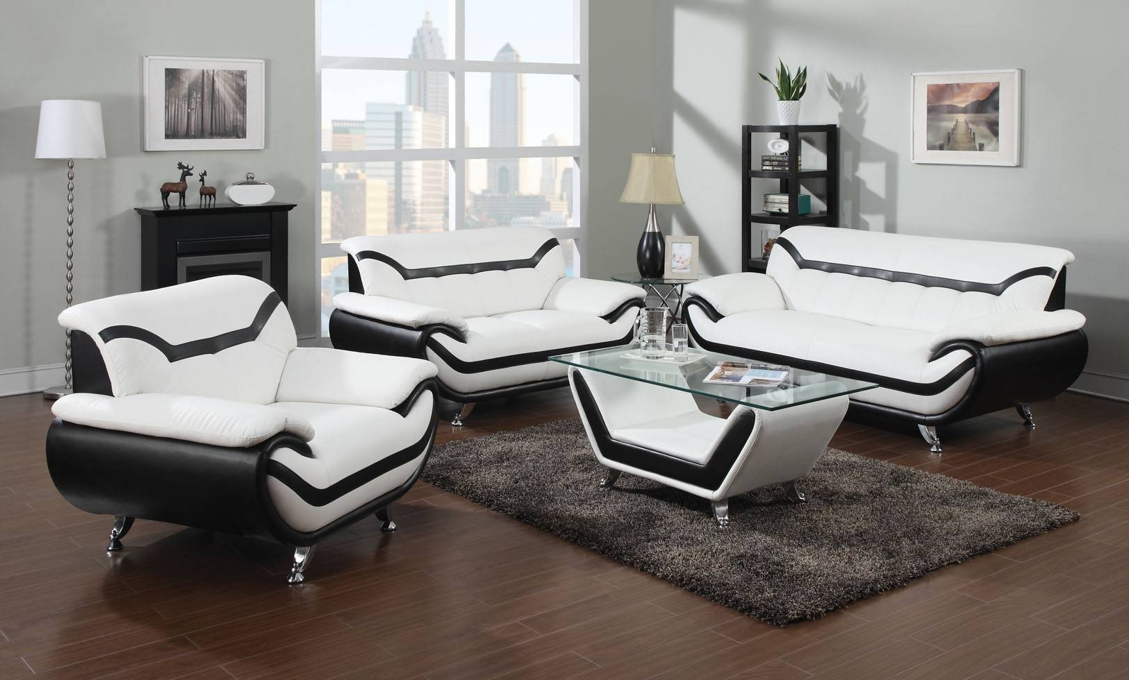 Black And White Leather Sofa Set 36 With Black And White Leather with regard to Black and White Leather Sofas (Image 5 of 15)