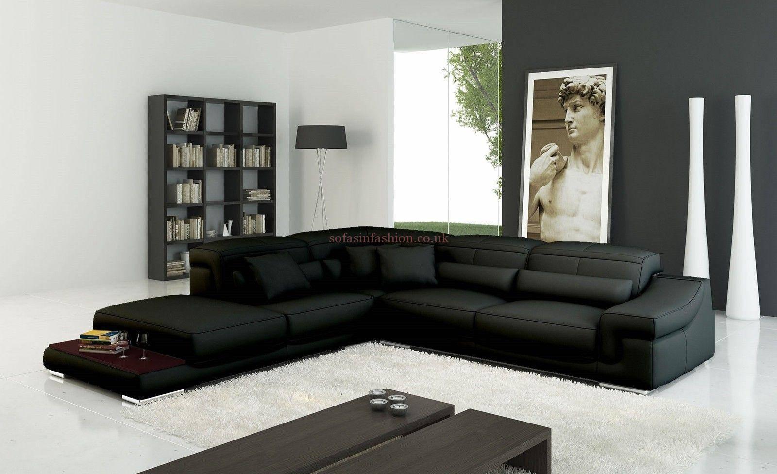Black Corner Sofa Uk | Centerfieldbar with Black Corner Sofas (Image 5 of 15)