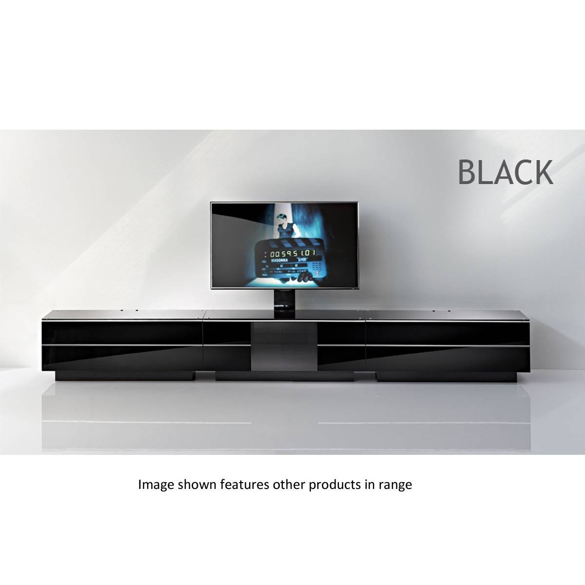 Black G Drw 47 Bl Tv Stand Unit Side Component In Large Black Tv Unit (View 4 of 15)