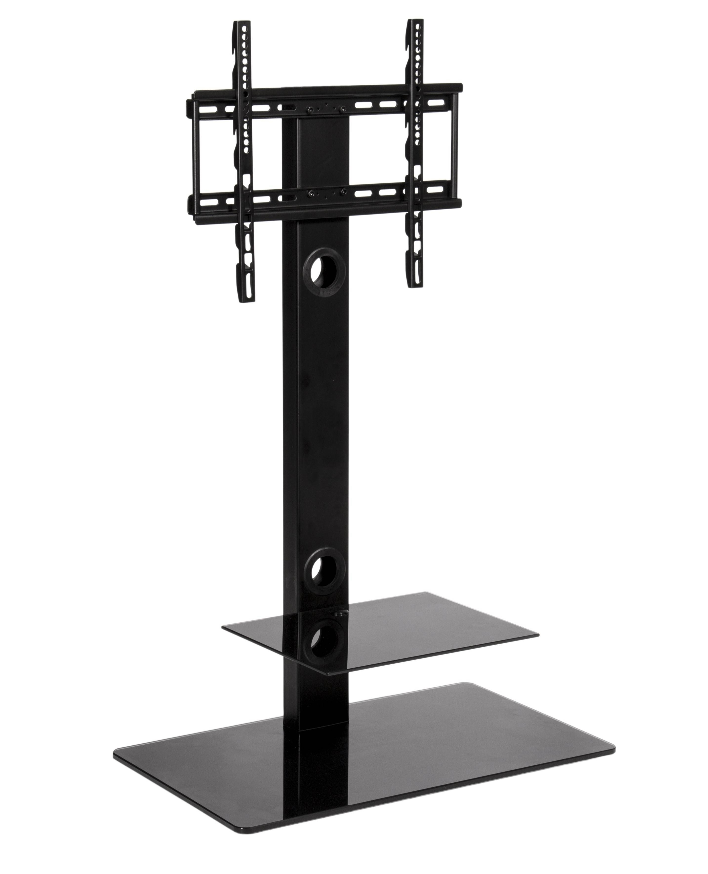 Black Glass Cantilever Tall Tv Stand | Mmt Cb35 Throughout Cheap Cantilever Tv Stands (View 1 of 15)