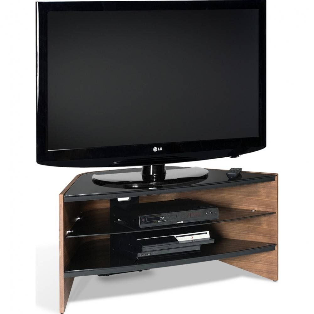 Black Glass Shelves; Screens Up To 50 throughout Techlink Corner Tv Stands (Image 2 of 15)