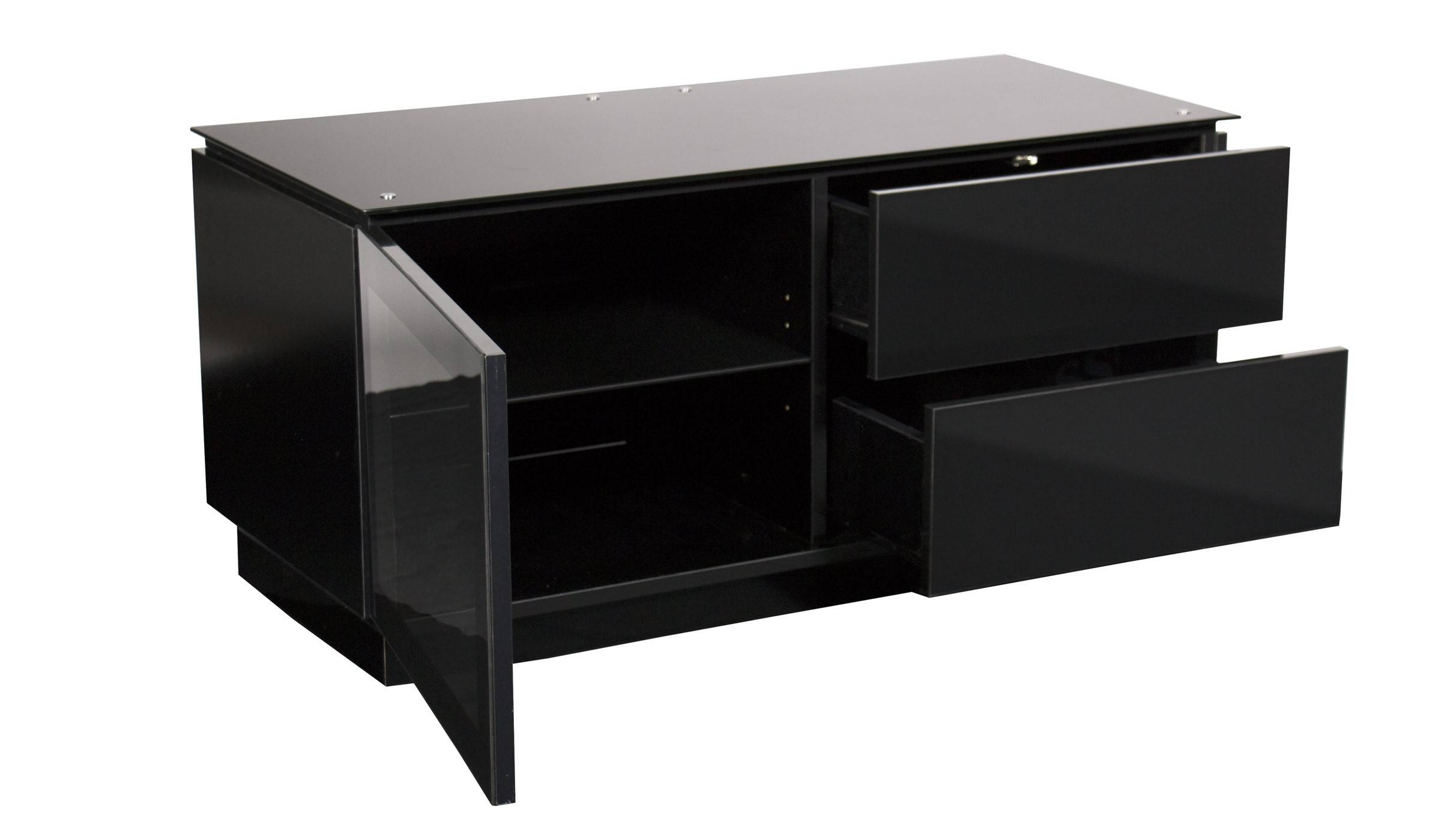 """Black Gloss Tv Cabinet Up To 50"""" Tv 