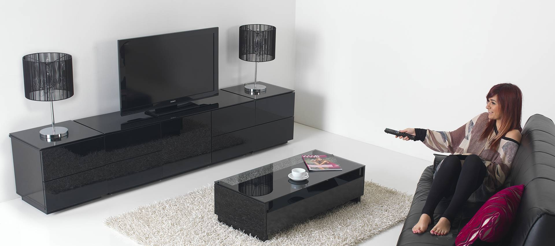 Black High Gloss Tv Cabinet 25 With Black High Gloss Tv Cabinet in Black High Gloss Corner Tv Unit (Image 6 of 15)