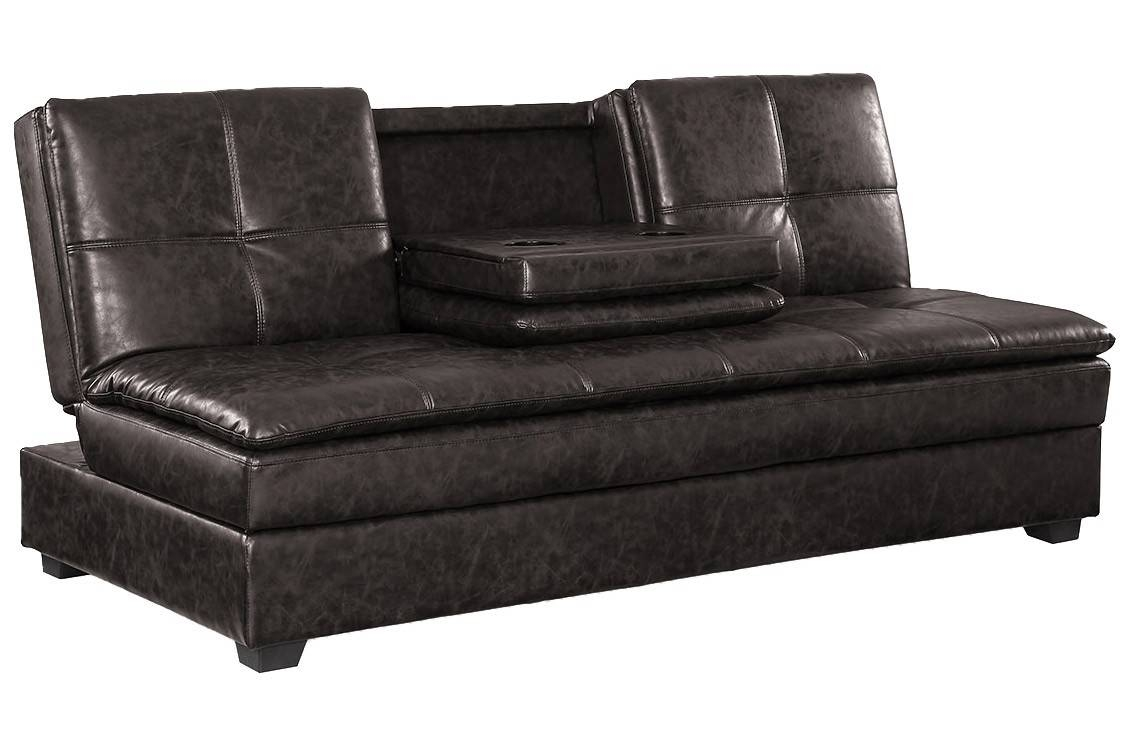 Black Leather Convertible Sofa | Centerfieldbar with regard to Black Leather Convertible Sofas (Image 6 of 15)