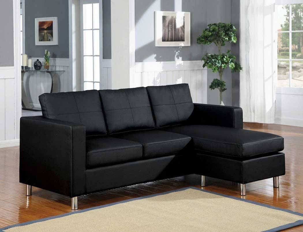 Black Leather Convertible Sofa with regard to Black Leather Convertible Sofas (Image 3 of 15)