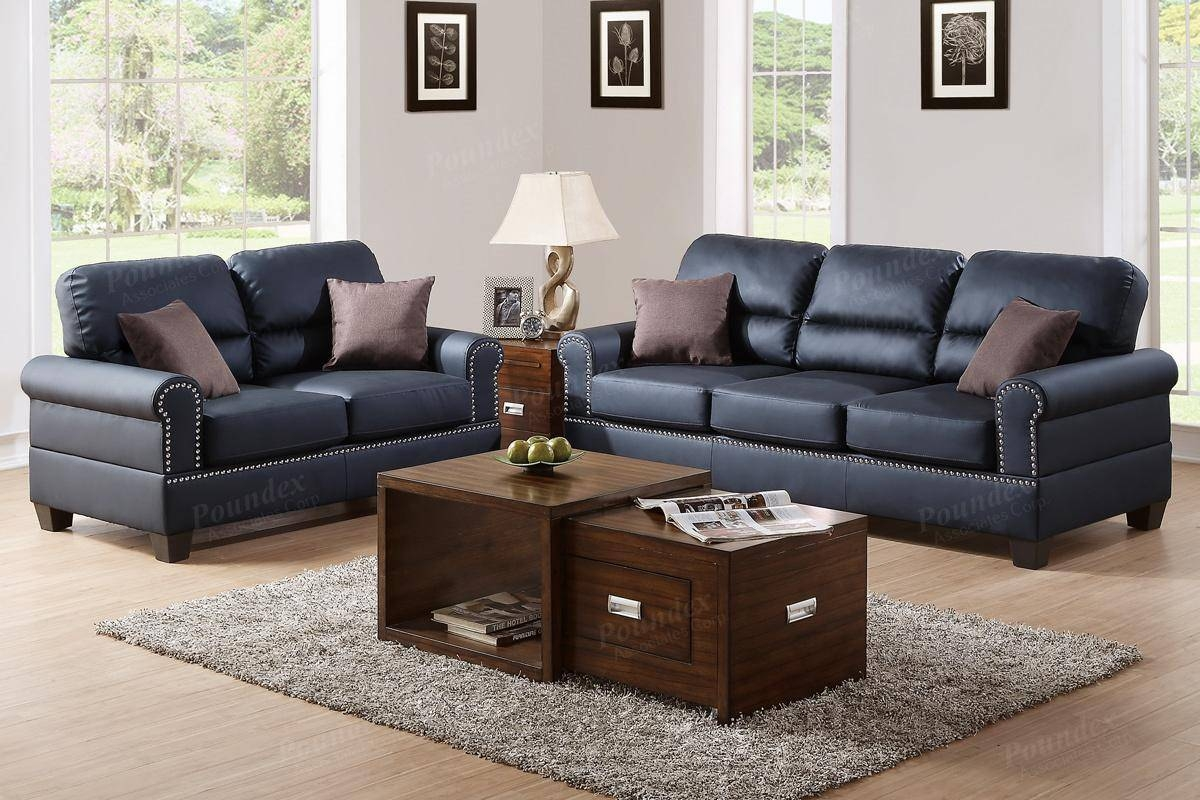 Black Leather Sofa And Loveseat Set - Steal-A-Sofa Furniture regarding Black Leather Sofas and Loveseat Sets (Image 7 of 15)