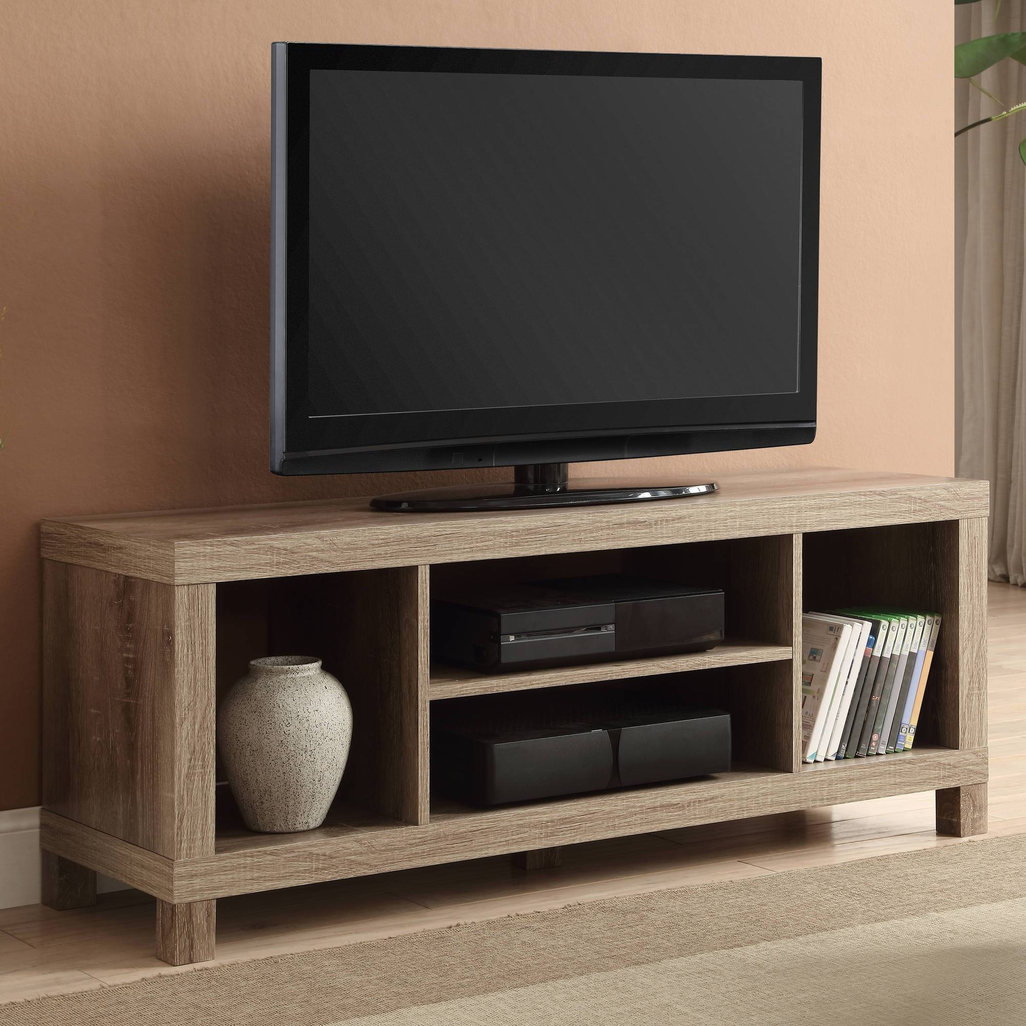 "Black Oak Tv Stand For Tvs Up To 42"" - Walmart with Tv Stands for Small Rooms (Image 6 of 15)"