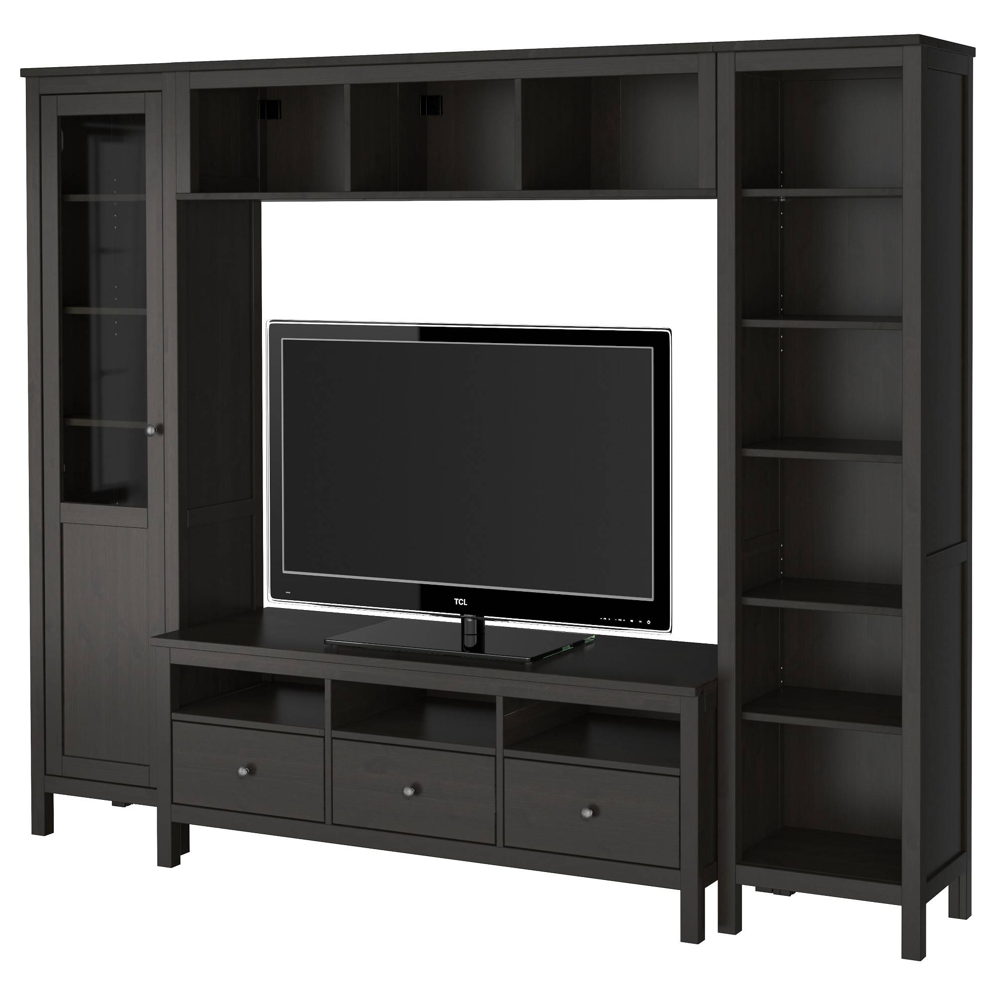 Black Tv Stand Or Tv Stand With Hutch Also Tall Tv Stand Plus regarding Tall Black Tv Cabinets (Image 6 of 15)