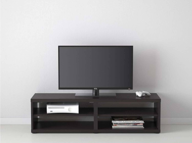 Black Wood Cavani Tv Stand Cabinet | Furniturebox For Long Black Tv Stands (View 4 of 15)