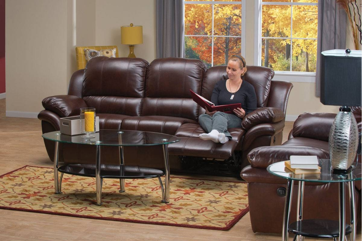 Blair Leather Power Reclining Sofa with Blair Leather Sofas (Image 1 of 15)