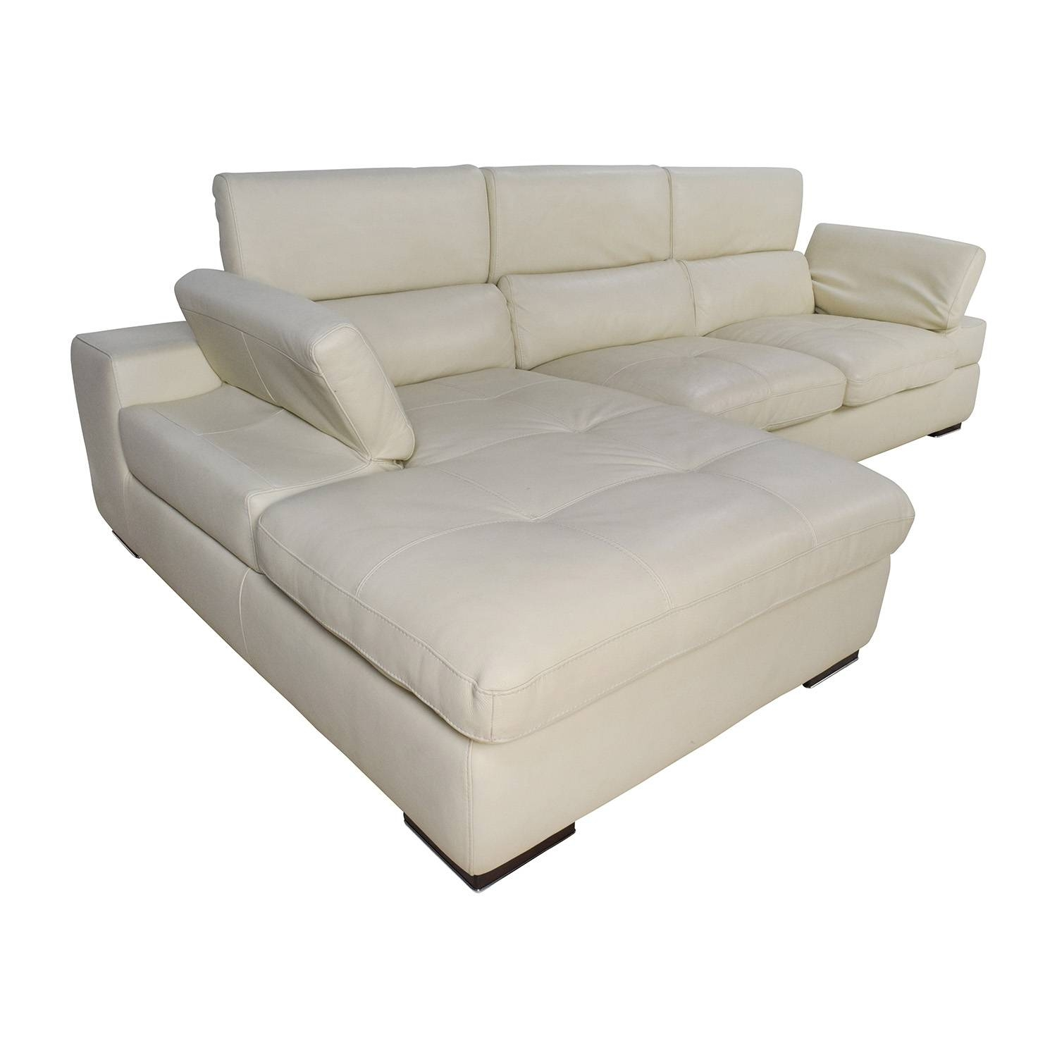 Bloomingdale's White Leather Sofa • Leather Sofa intended for Bloomingdales Sofas (Image 11 of 15)