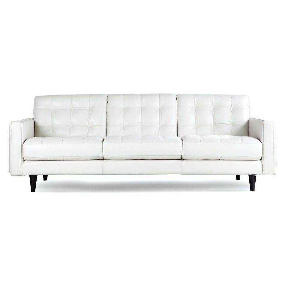 Bloomingdale's White Leather Sofa • Leather Sofa throughout Bloomingdales Sofas (Image 12 of 15)