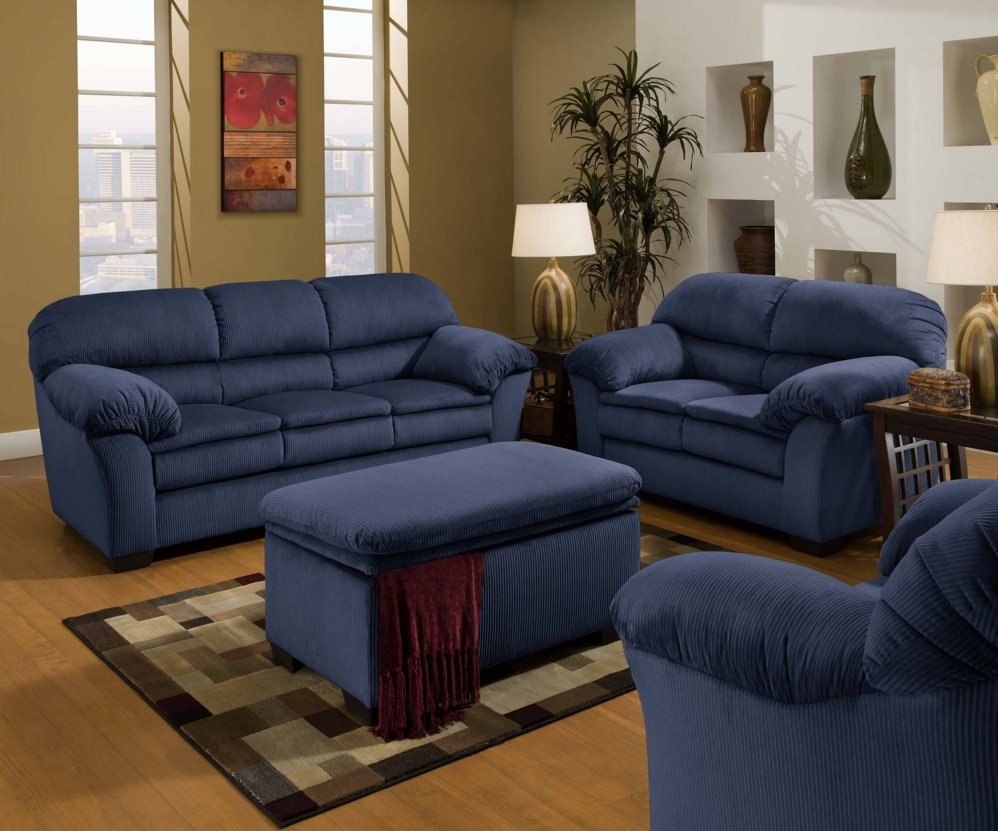 Blue Sofas – Helpformycredit within Blue Microfiber Sofas (Image 4 of 15)
