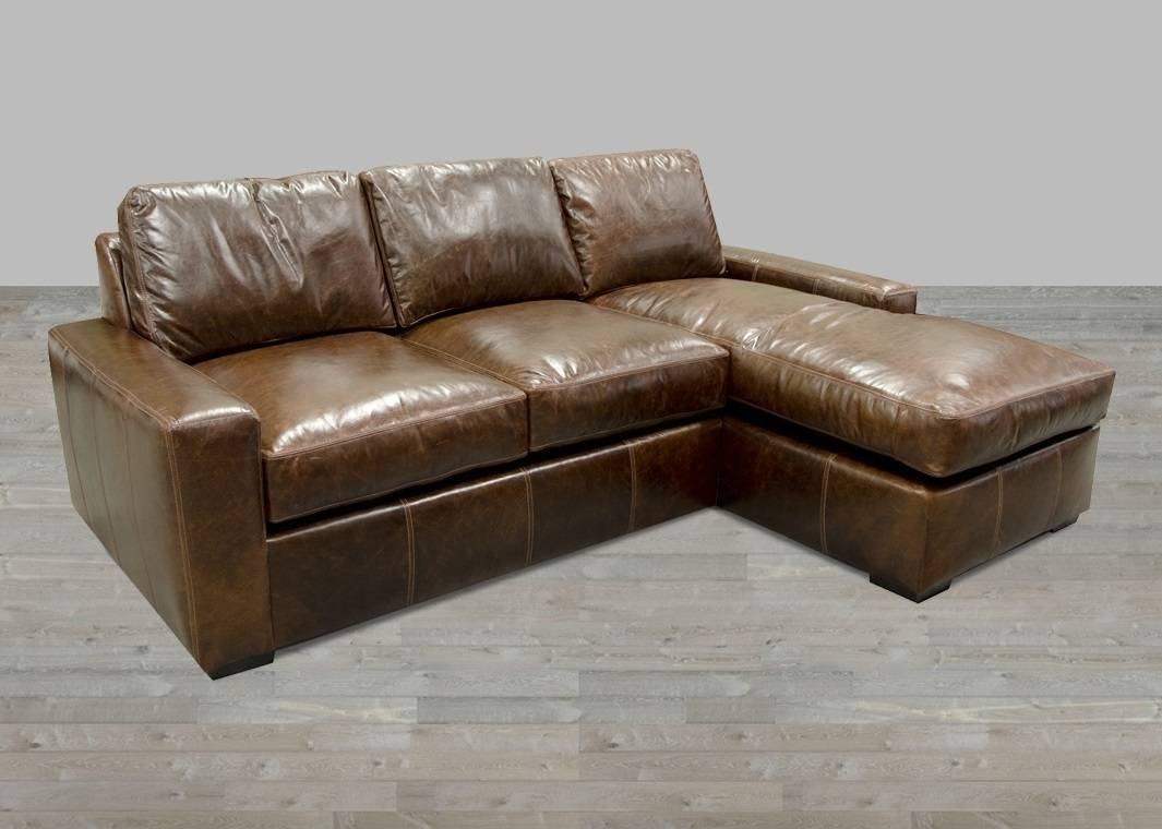 Bomber Leather Sectional Sofa • Leather Sofa inside Bomber Leather Sofas (Image 3 of 15)