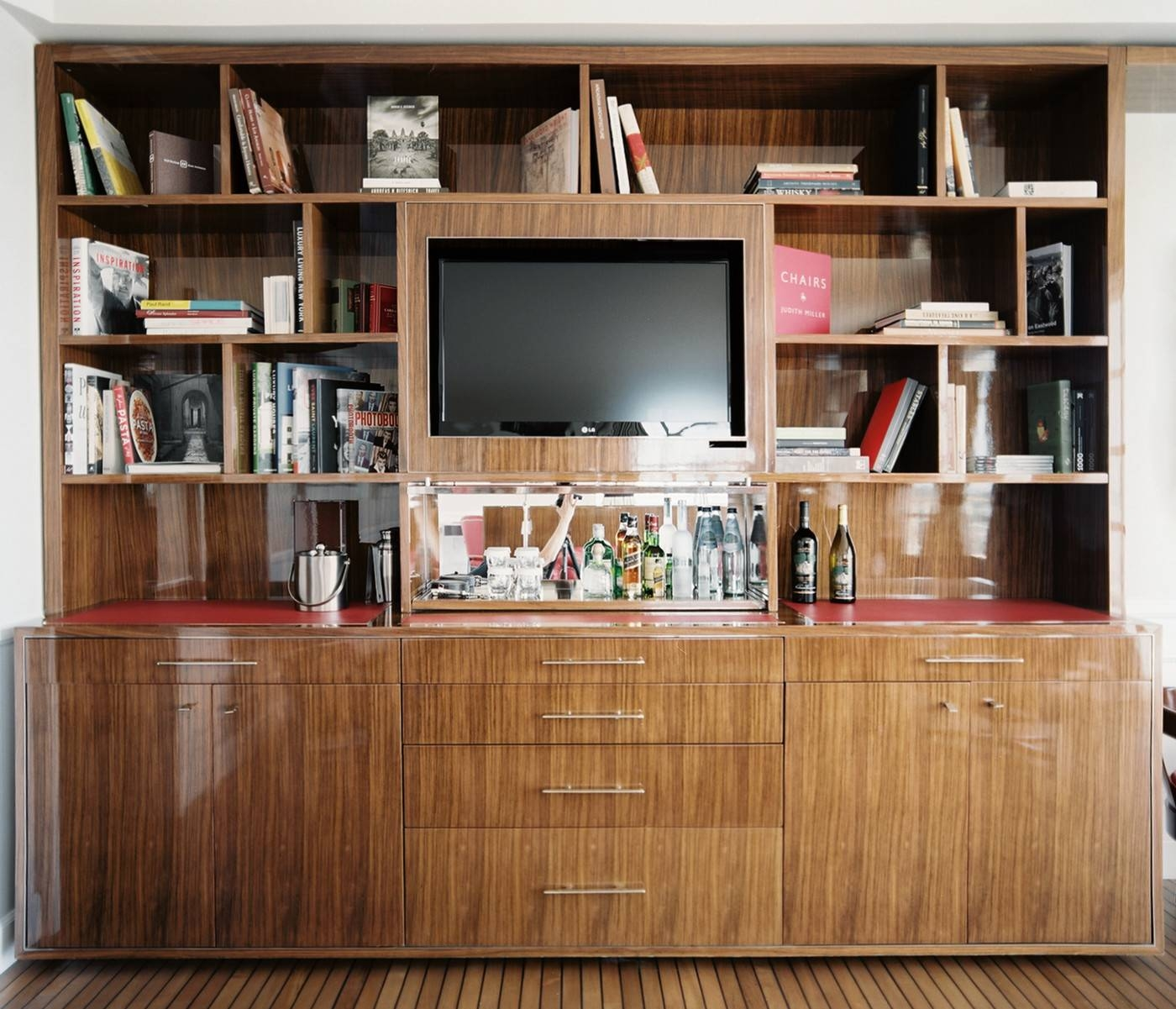 Bookcase Tv Stand Photos, Design, Ideas, Remodel, And Decor – Lonny With Tv Stands And Bookshelf (View 7 of 15)