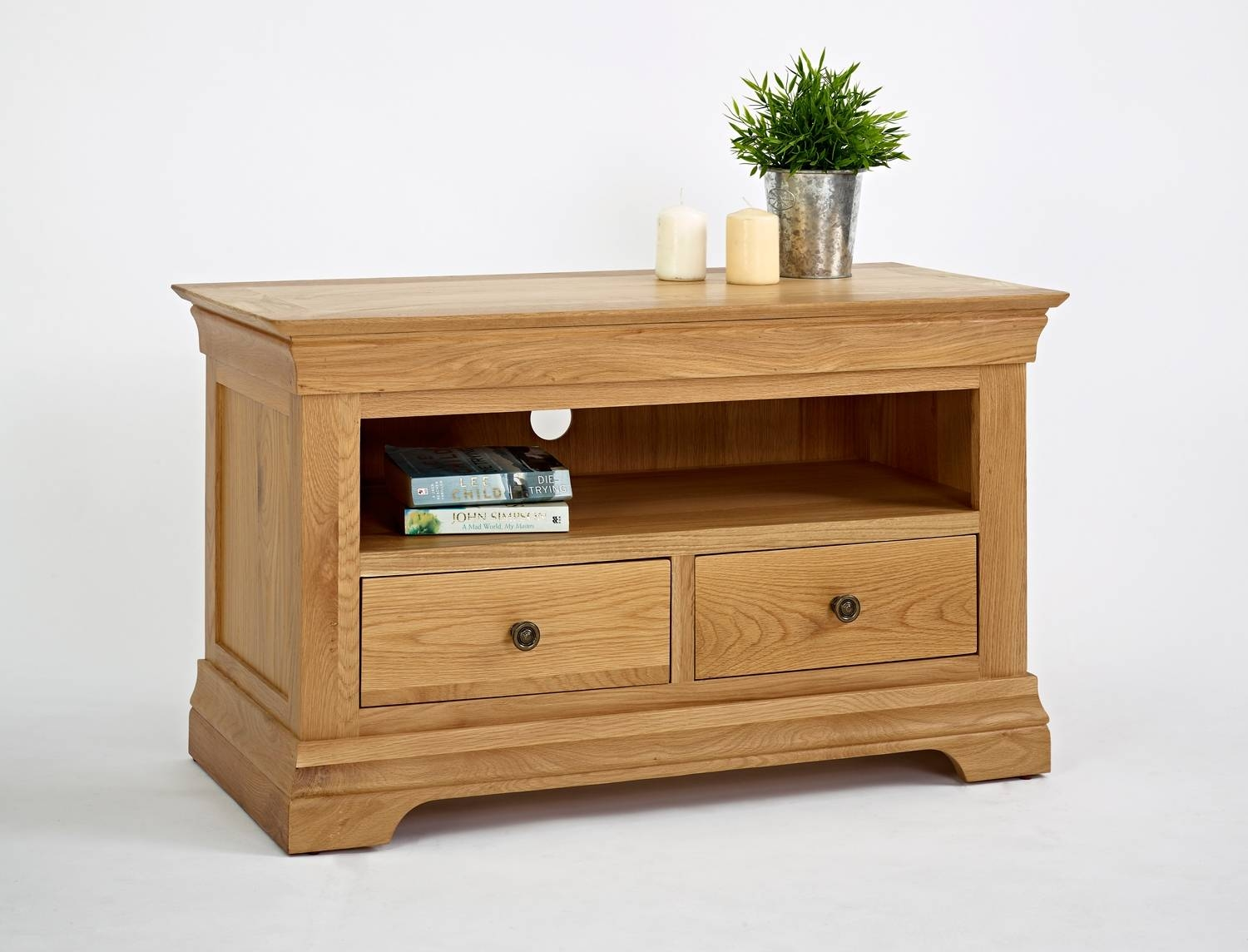 Popular Photo of Small Oak Tv Cabinets