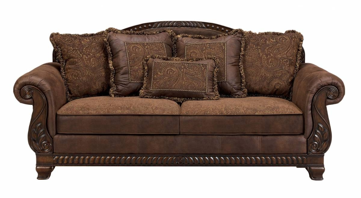 Bradington Traditional Truffle Fabric Sofa | Living Rooms | The for Bradington Truffle Sofas (Image 5 of 15)