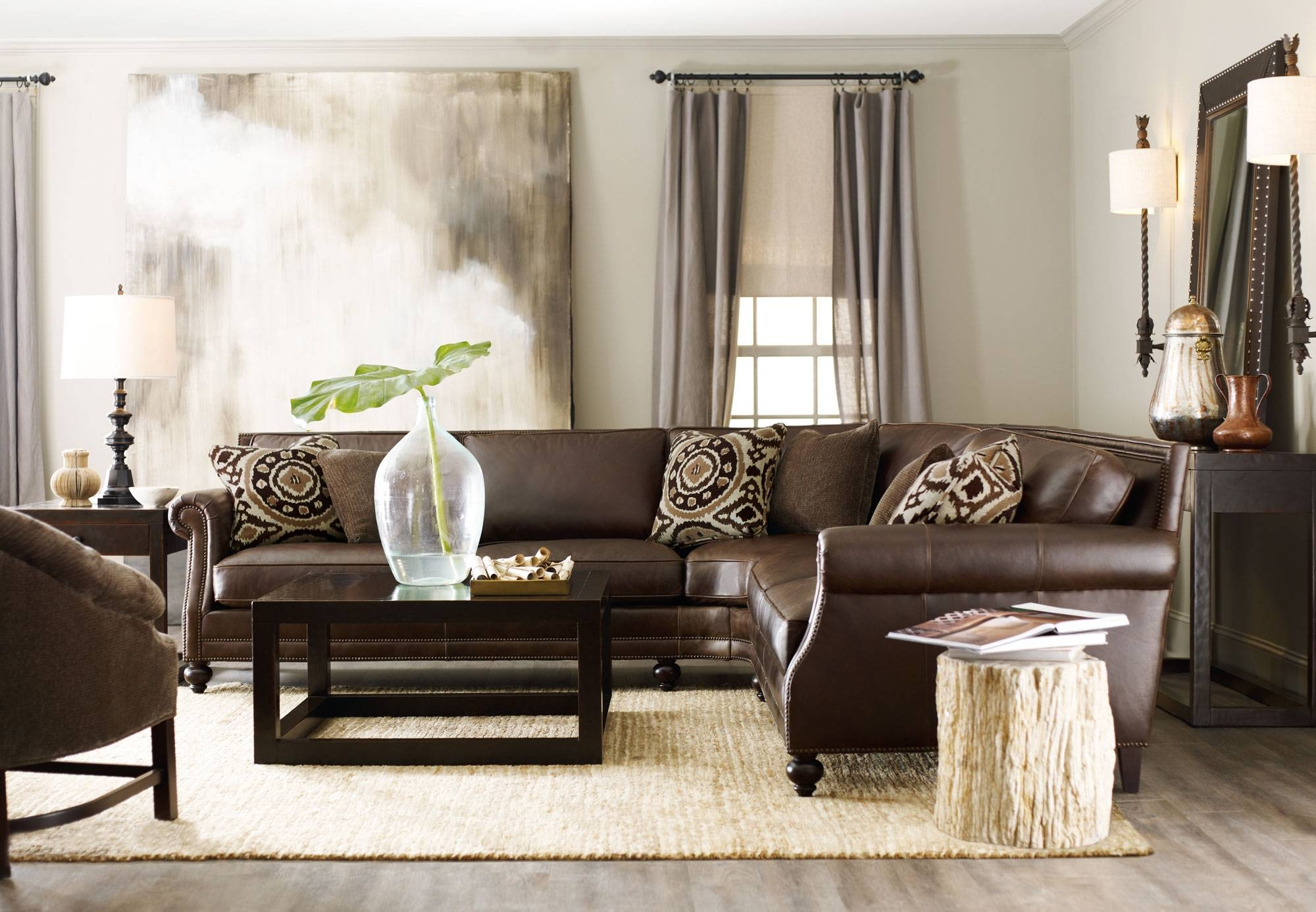 Brae Sectional With Petrified Side Table | Bernhardt with Bernhardt Brae Sofas (Image 9 of 15)